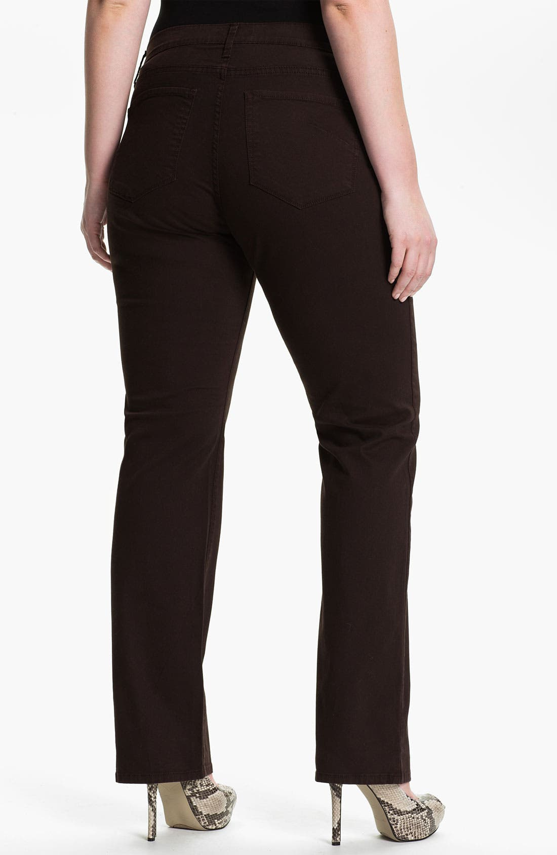 Alternate Image 2  - James Jeans High Rise Straight Leg Jeans (Plus)