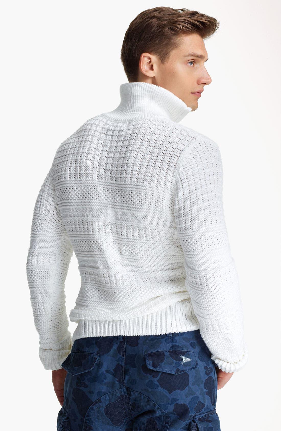 Alternate Image 2  - Gant by Michael Bastian Quarter Zip Pullover Sweater