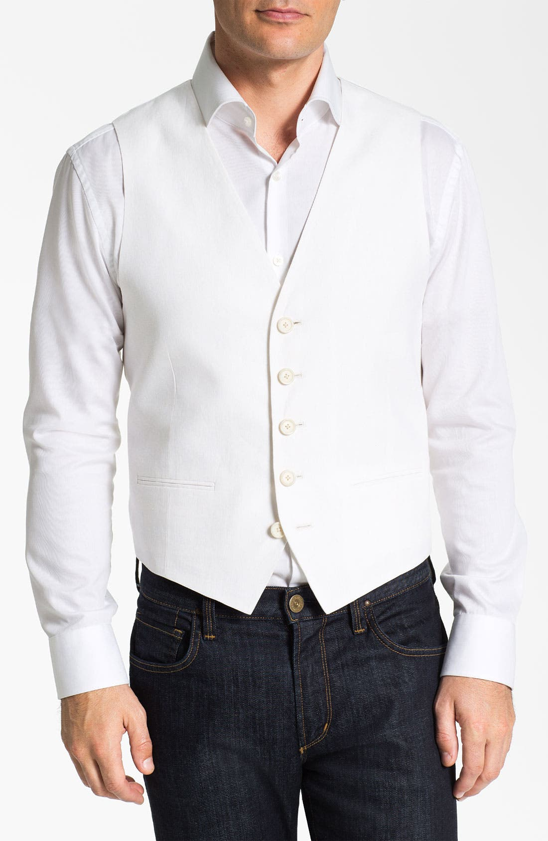 Alternate Image 1 Selected - John W. Nordstrom® Linen Vest
