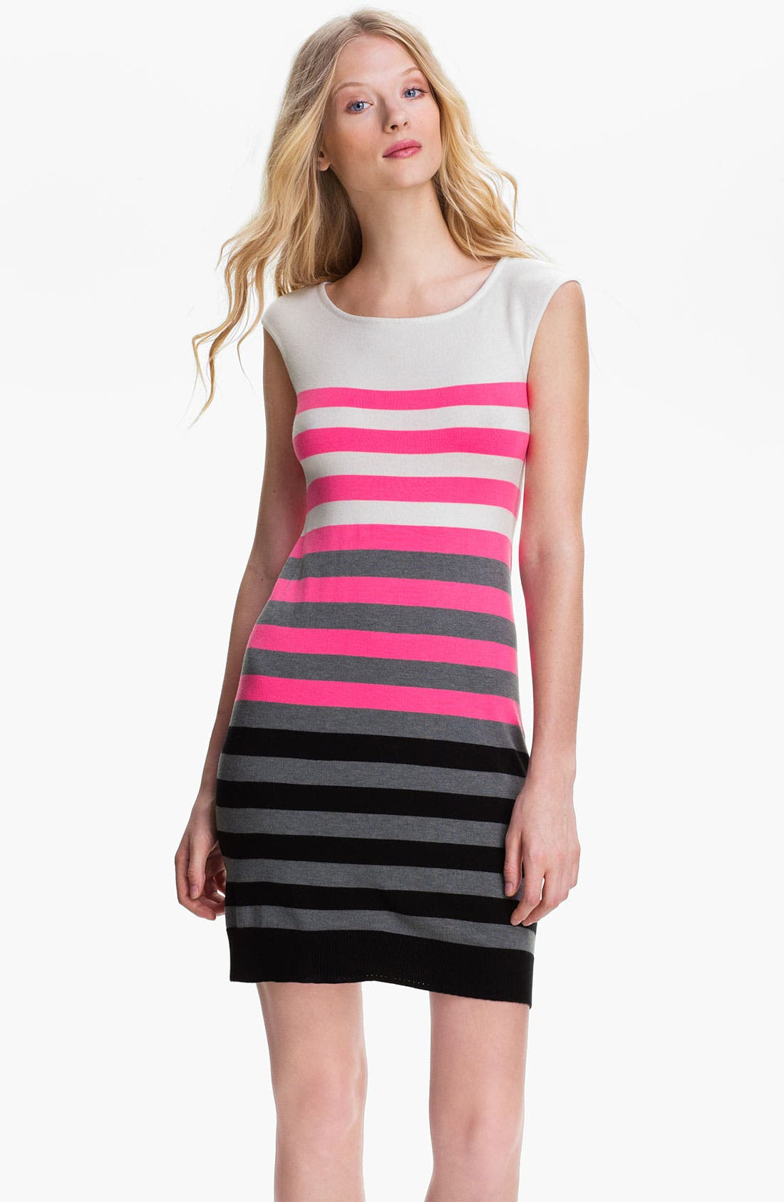 Alternate Image 1 Selected - Milly Multi Stripe Shift Dress