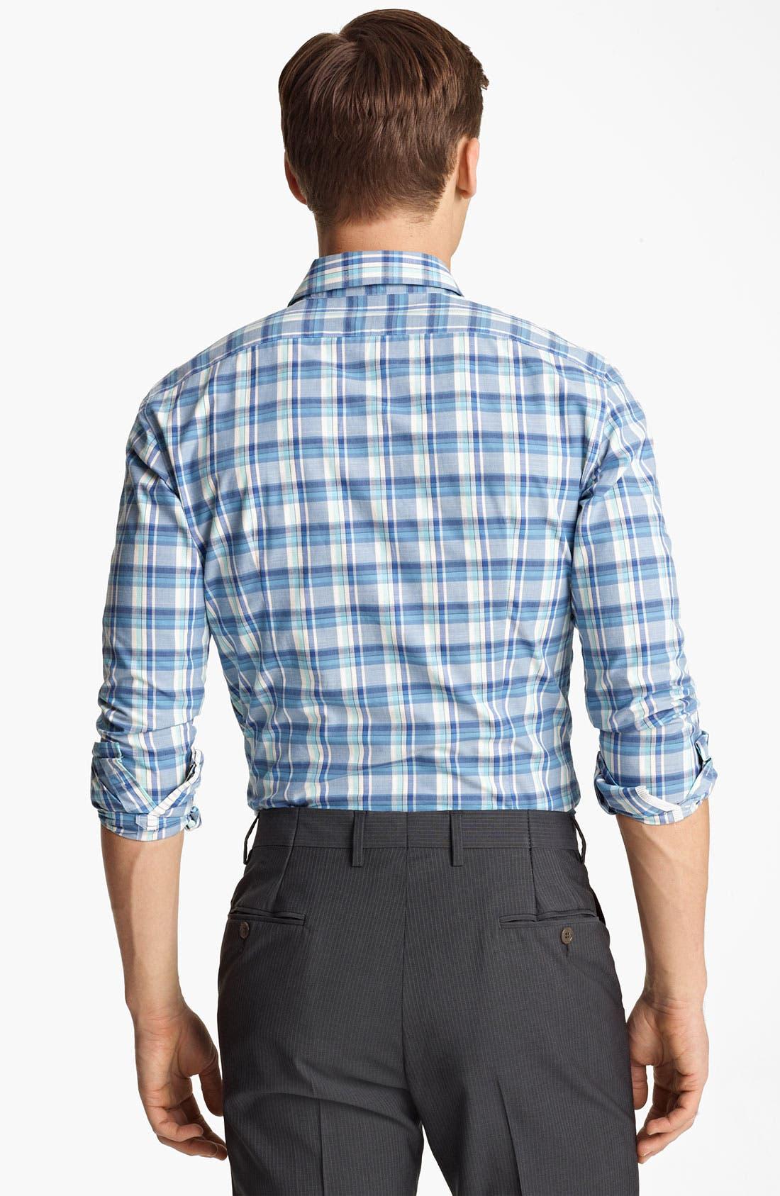 Alternate Image 2  - PS Paul Smith Slim Fit Plaid Woven Shirt