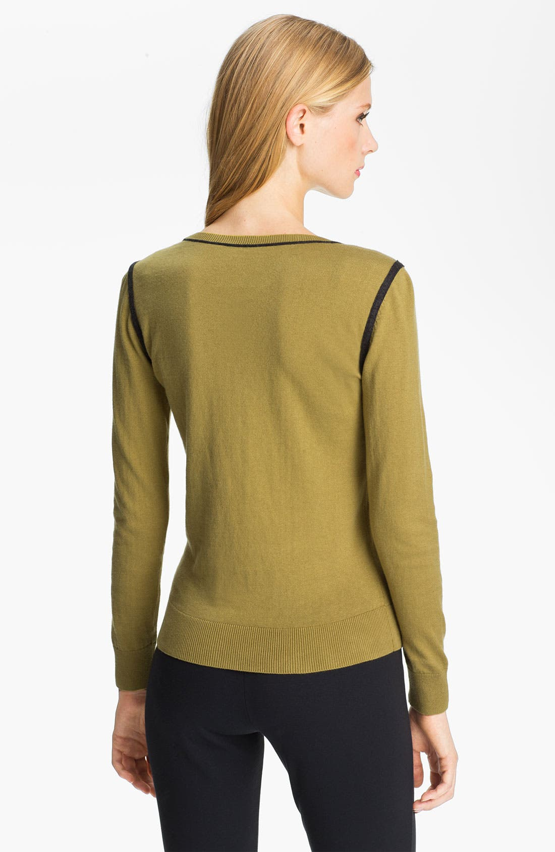 Alternate Image 2  - Halogen® Intarsia Sweater