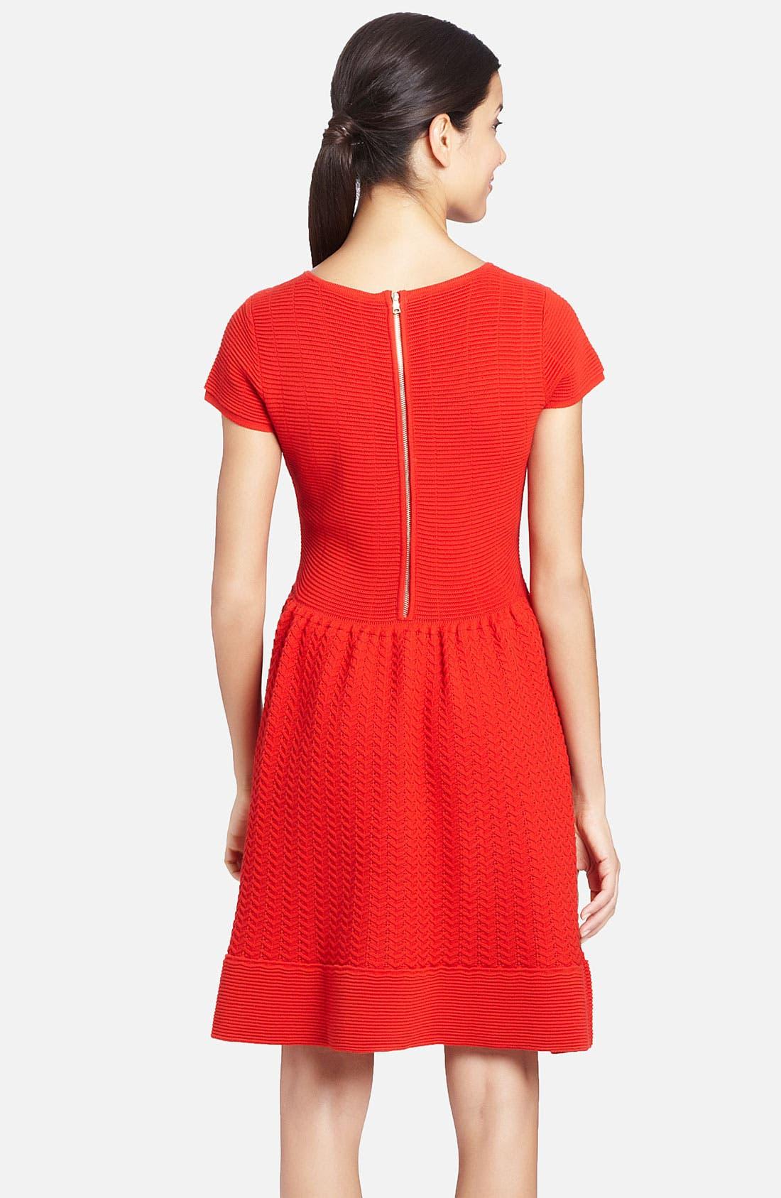 Alternate Image 2  - Cynthia Steffe 'Marley' Knit Merino Wool Fit & Flare Dress