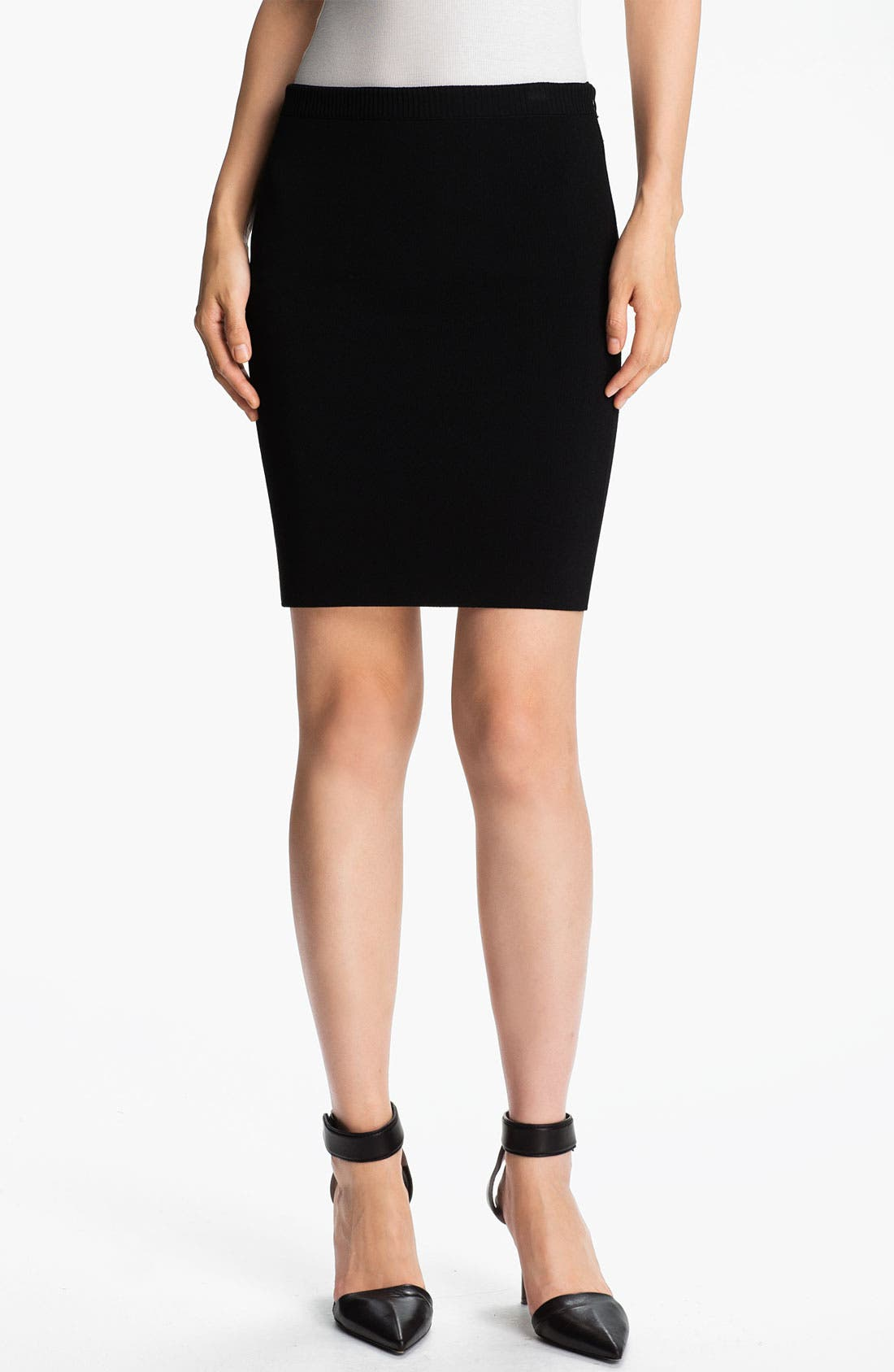 Alternate Image 1 Selected - Alexander Wang Double Face Pencil Skirt