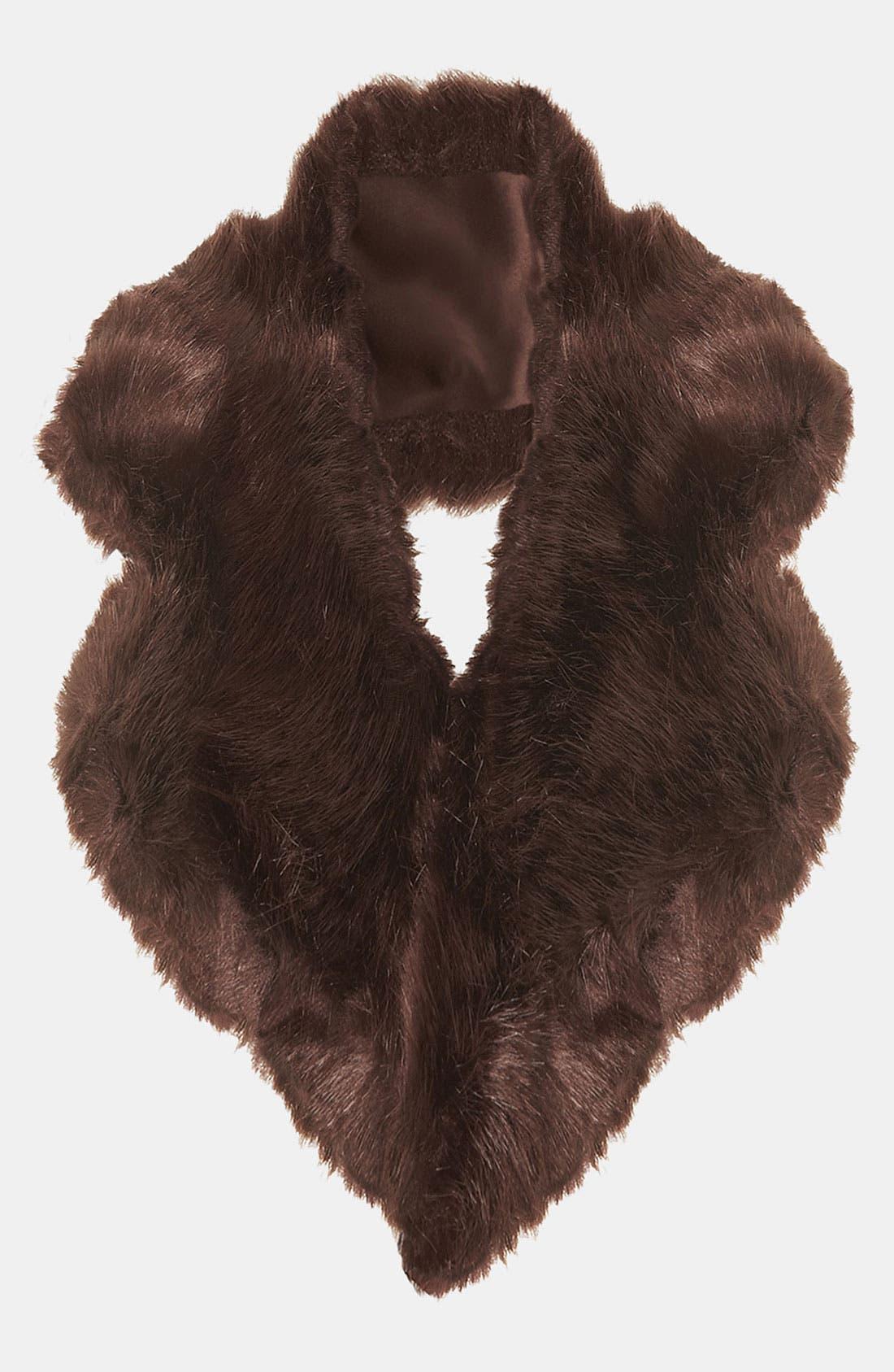 Main Image - Topshop Faux Fur Collar