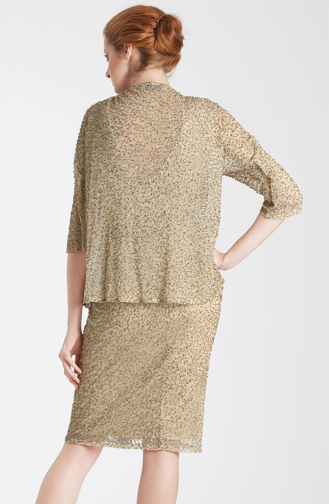 Alternate Image 2  - JS Collections Embellished V-Neck Chiffon Dress & Jacket