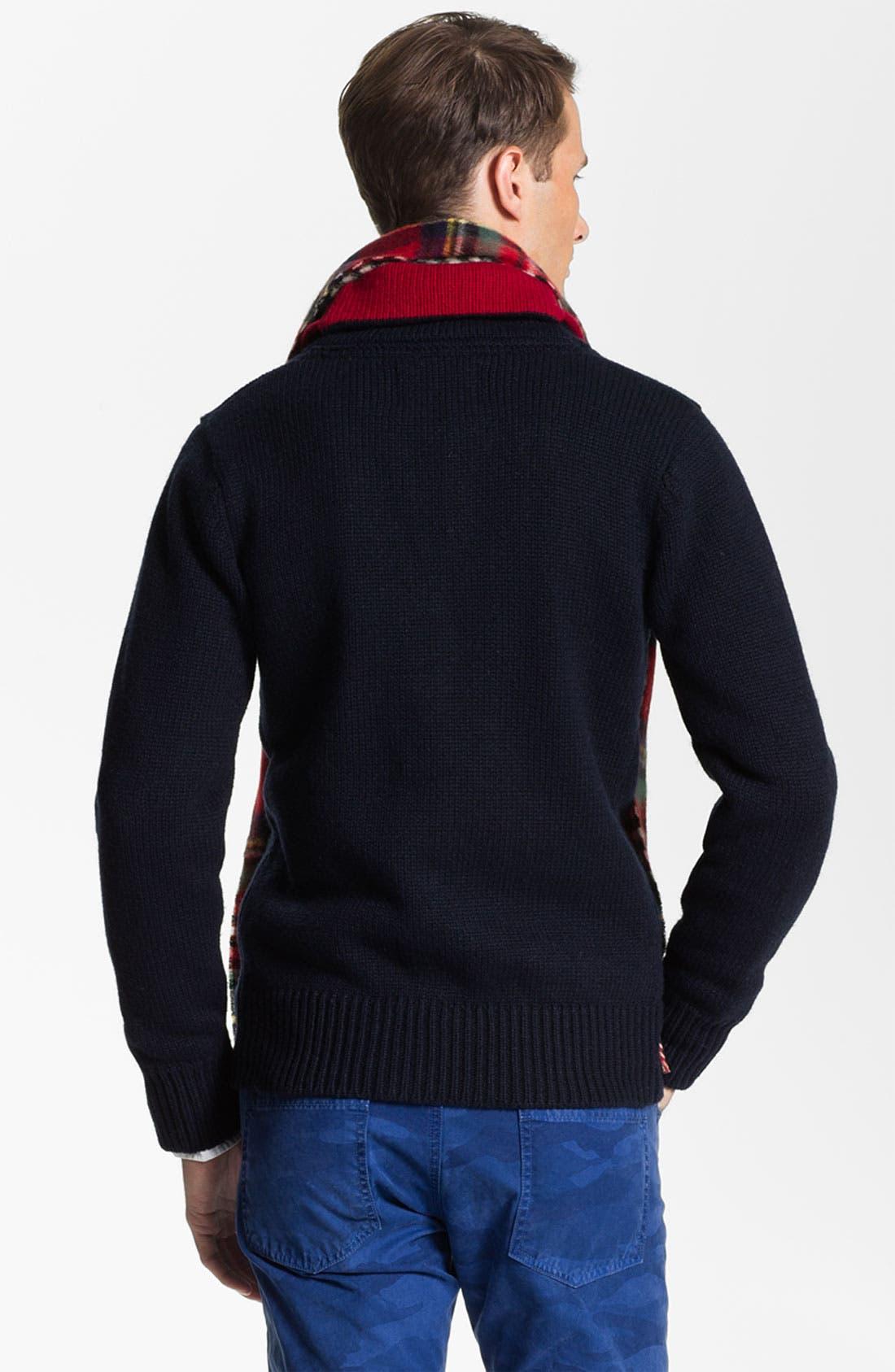 Alternate Image 2  - Scotch & Soda Shawl Collar Wool Blend Cardigan