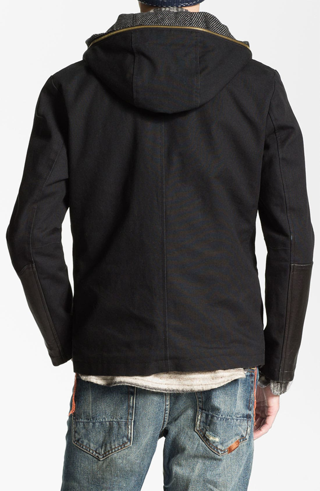 Alternate Image 2  - PRPS Double Breasted Convertible Coat