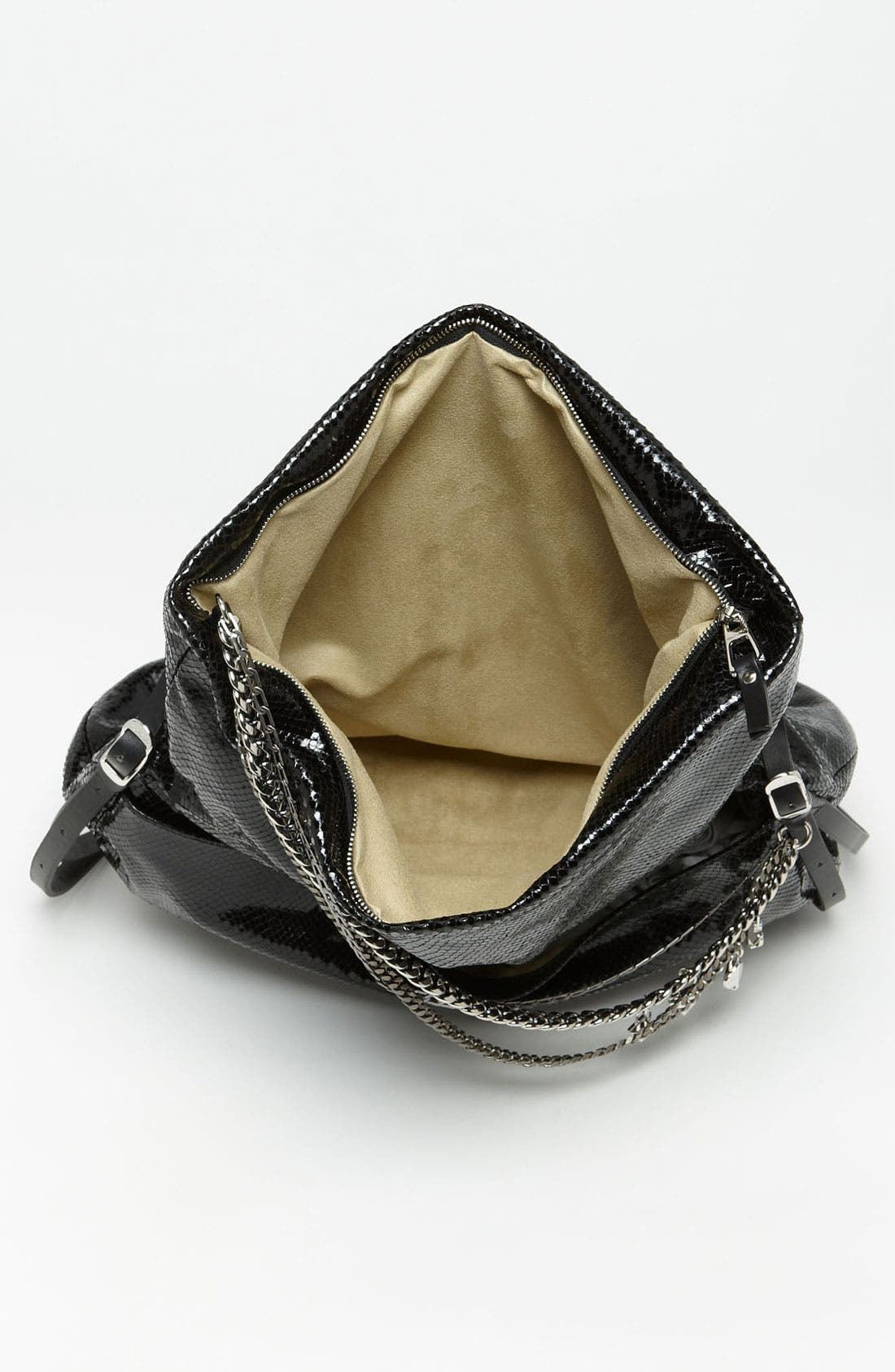 Alternate Image 3  - Jimmy Choo 'Biker' Snake Embossed Leather Shoulder Bag