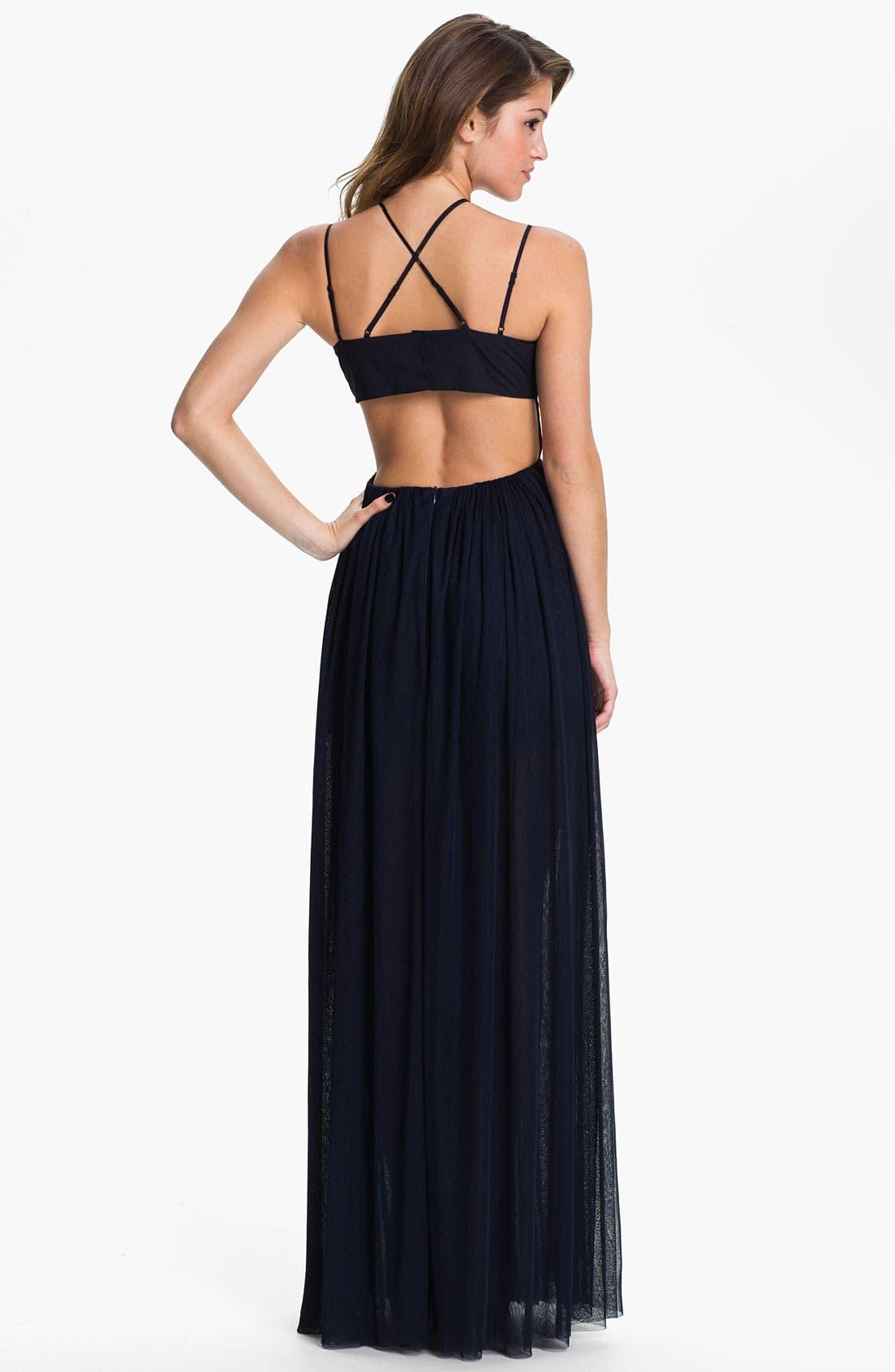 Alternate Image 2  - Keepsake the Label 'Smoke & Mirrors' Back Cutout Mesh Maxi Dress