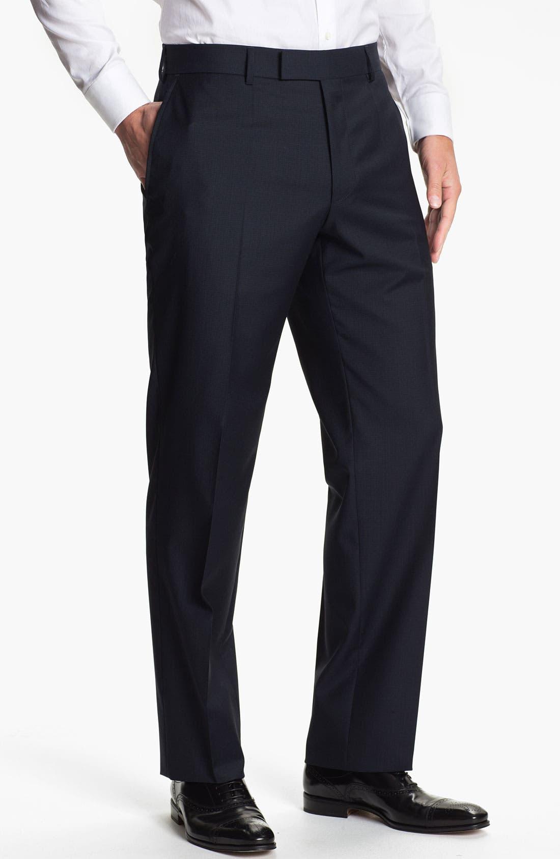 Main Image - BOSS Black 'James' Flat Front Trousers