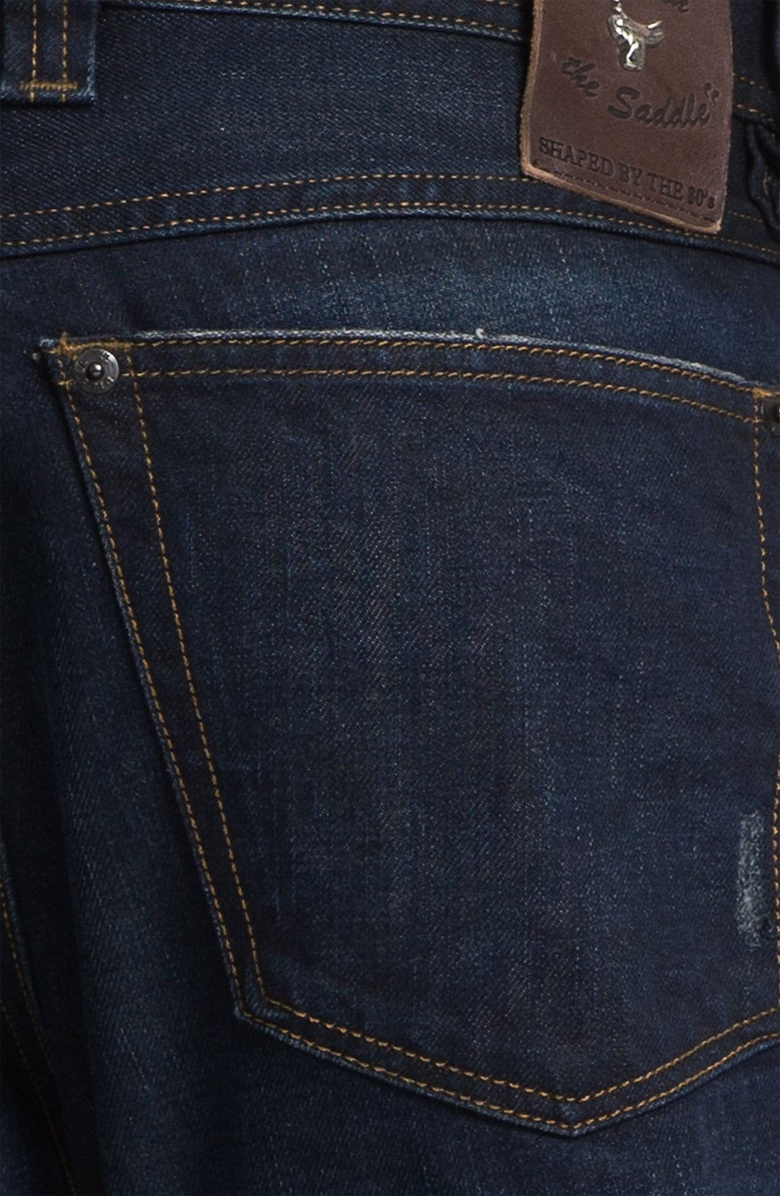 'Back in the Saddle' Relaxed Tapered Leg Jeans,                             Alternate thumbnail 4, color,                             0806X