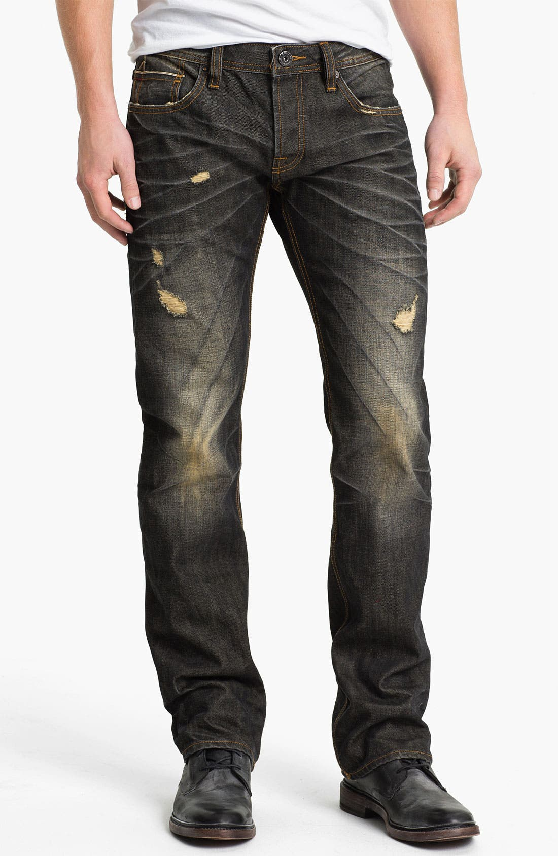 Alternate Image 2  - Cult of Individuality 'Hagen' Straight Leg Jeans (18-Month Brown)