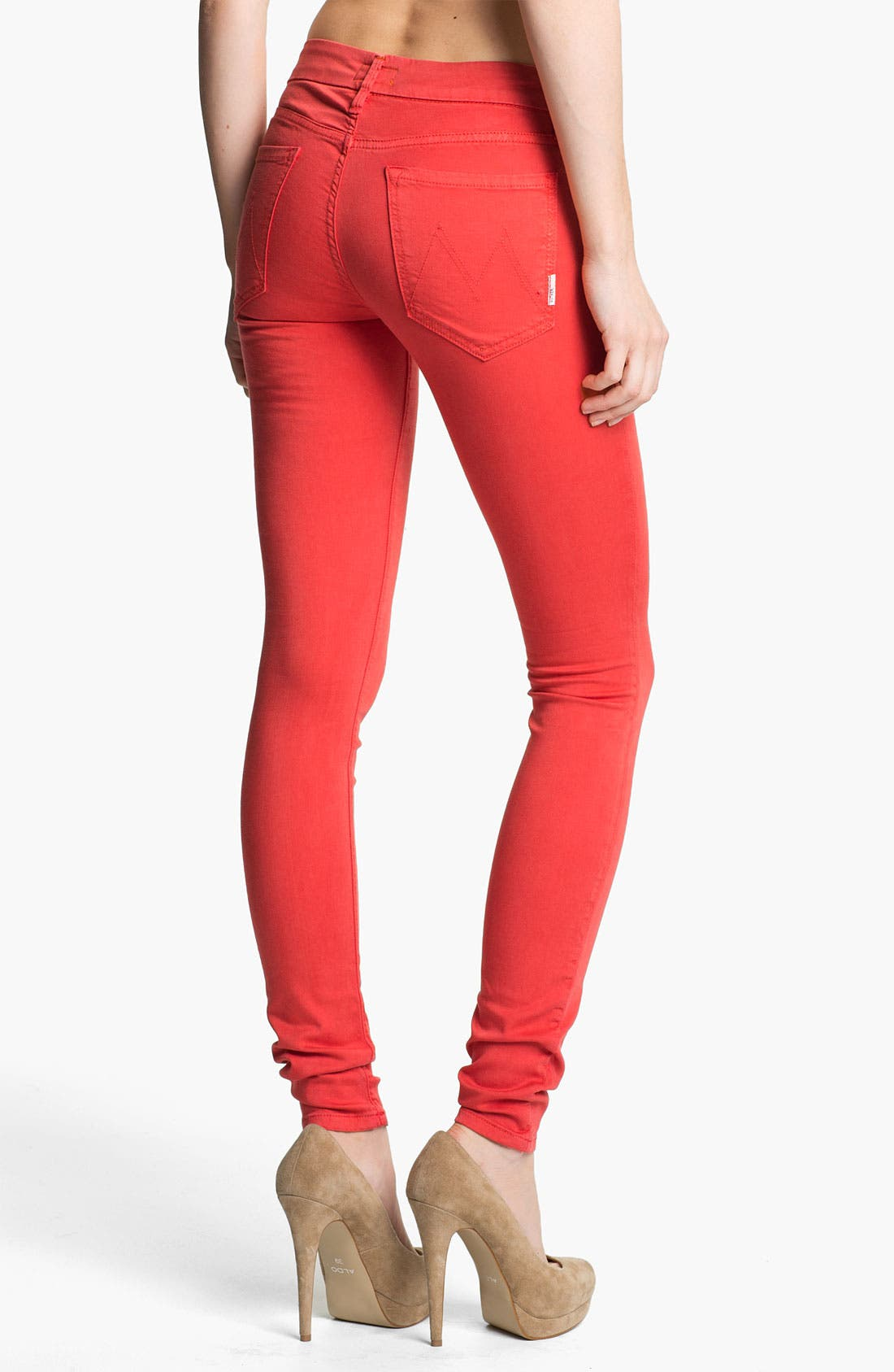 Alternate Image 2  - MOTHER 'The Looker' Skinny Stretch Jeans (Rambutan Red)