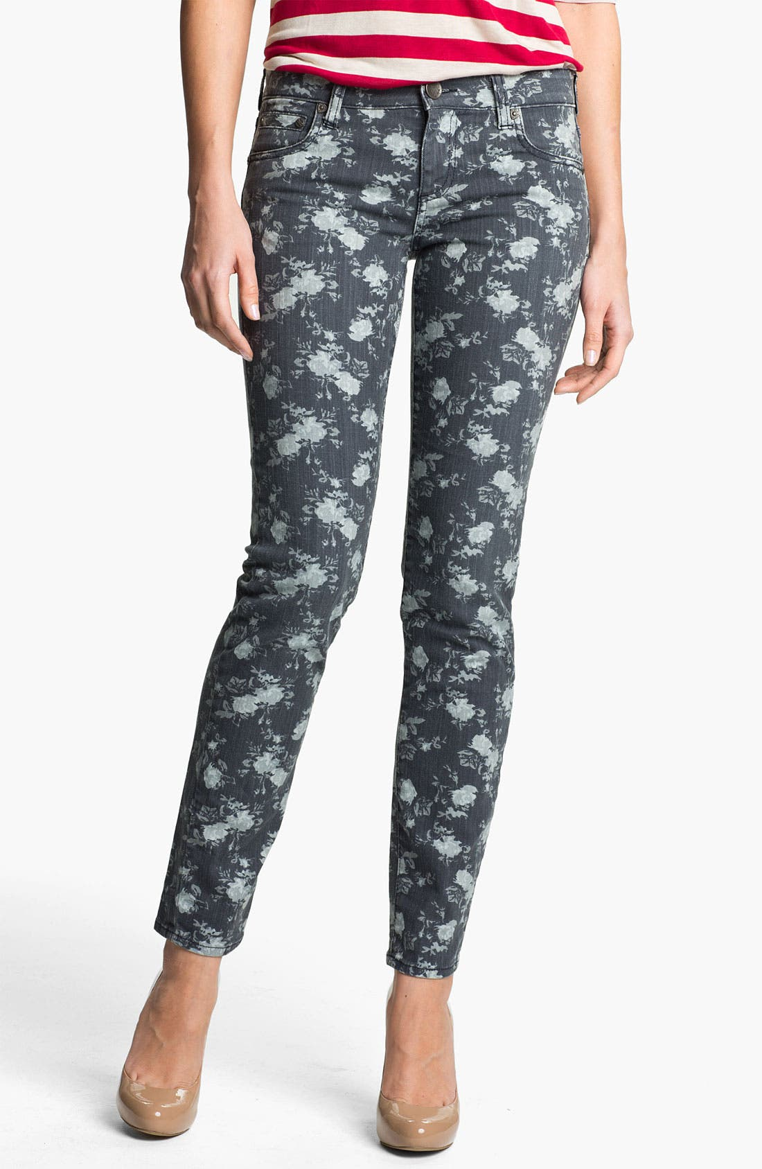 Alternate Image 1 Selected - KUT from the Kloth 'Diana' Floral Skinny Jeans