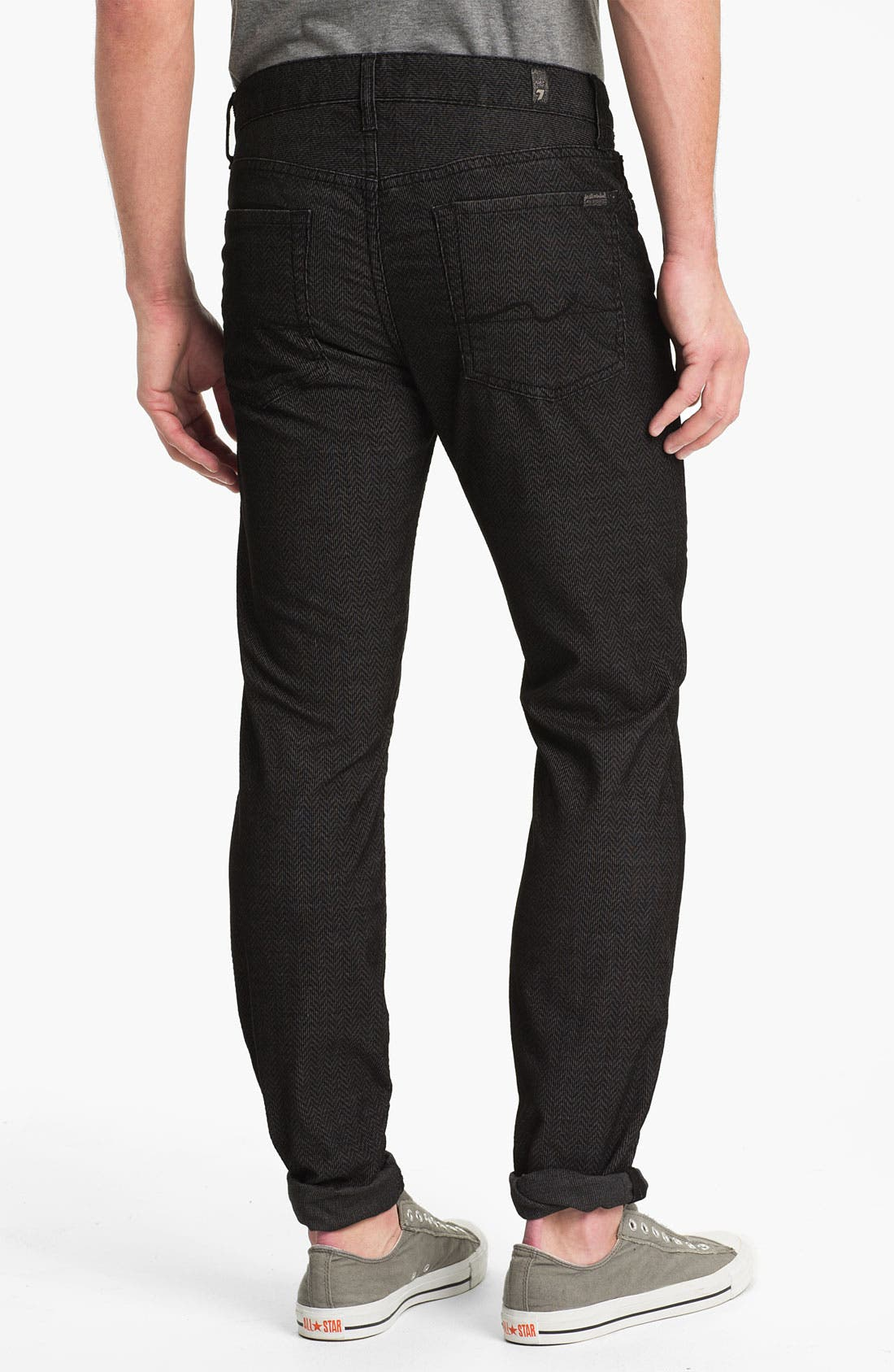 Alternate Image 1 Selected - 7 For All Mankind® 'Slimmy' Slim Straight Leg Herringbone Corduroy Pants