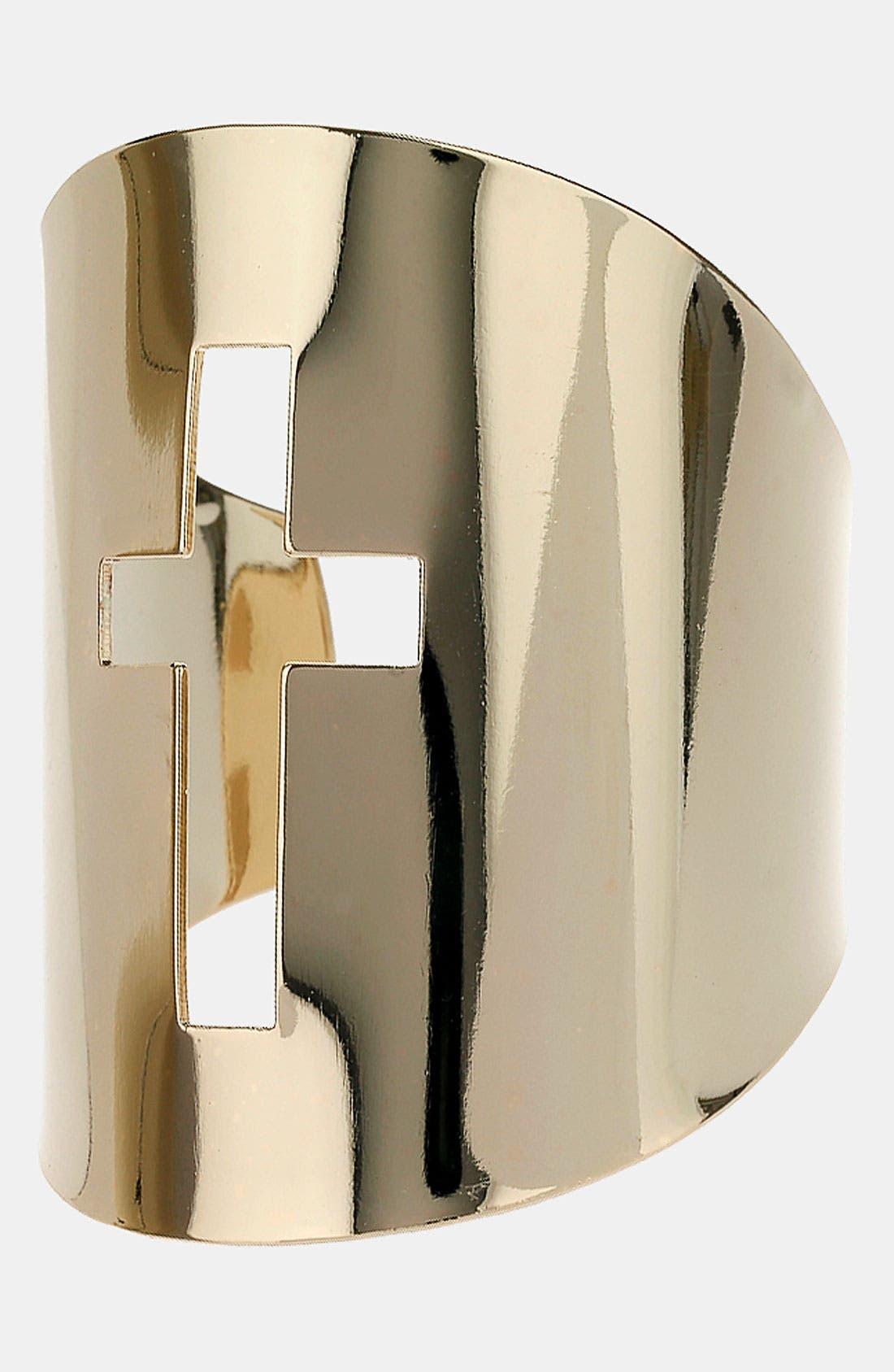 Main Image - Topshop Cross Cutout Cuff
