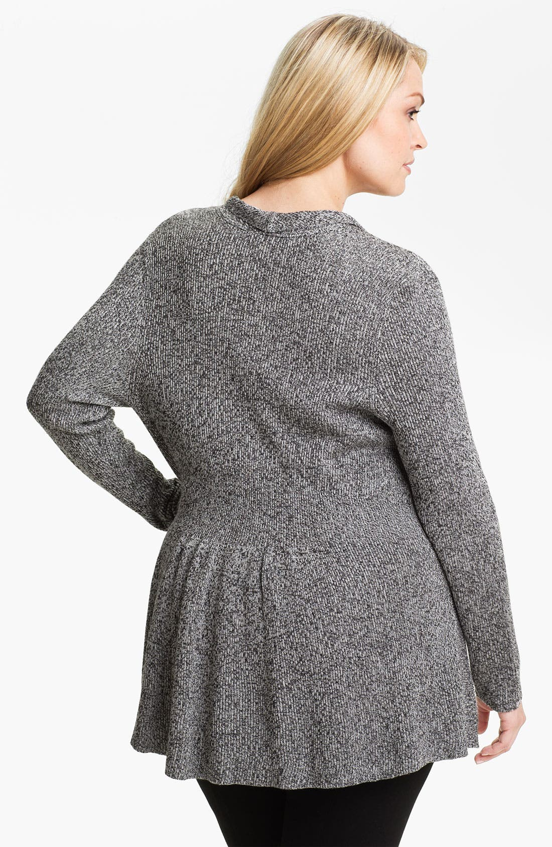 Alternate Image 2  - Nic + Zoe Peplum Cardigan (Plus)