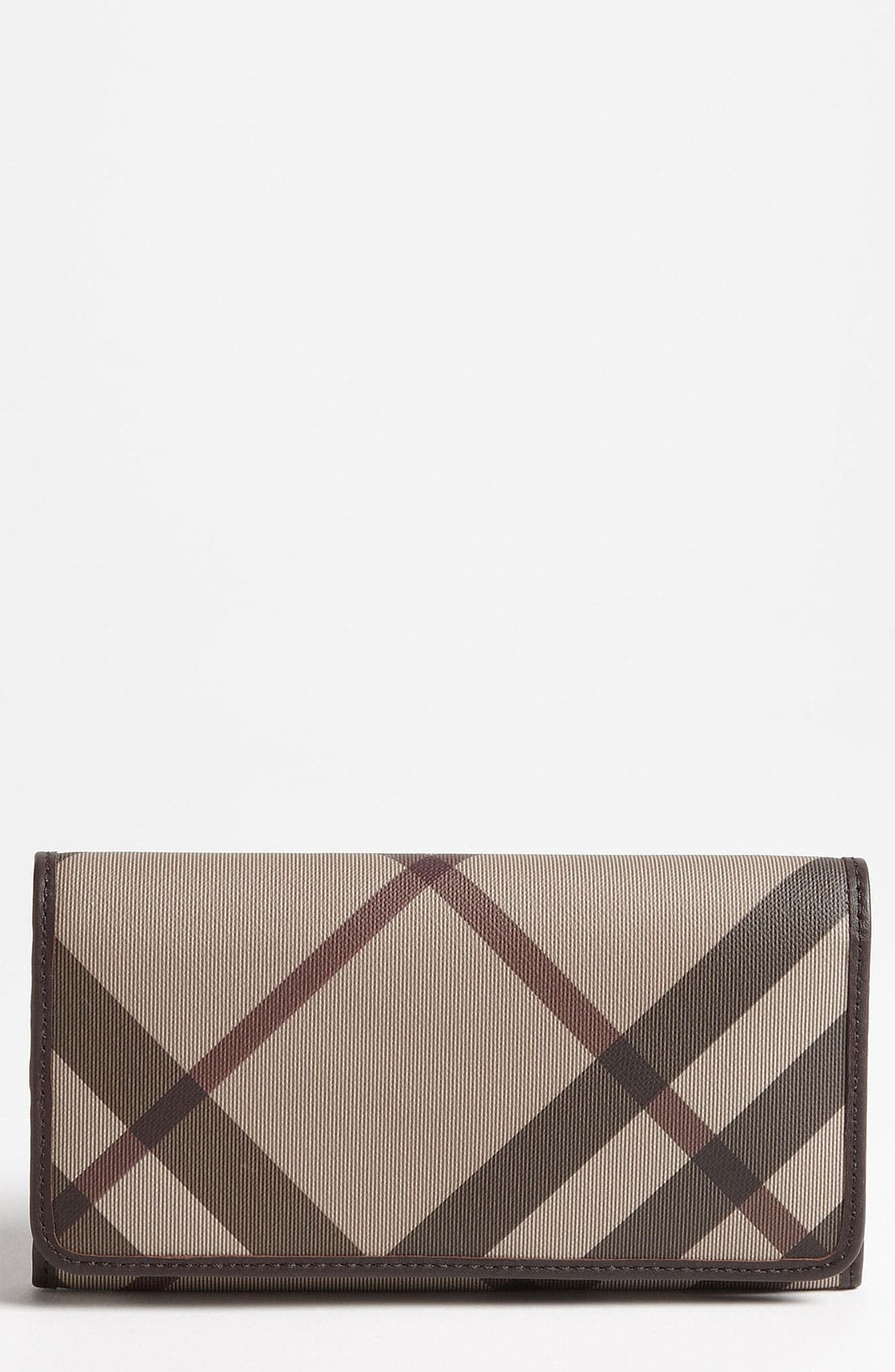 Main Image - Burberry 'Smoked Check' Flap Wallet
