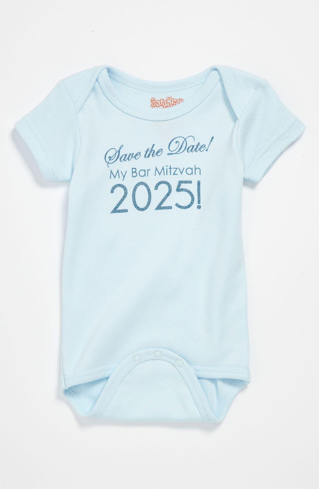 Alternate Image 1 Selected - Sara Kety Baby & Kids 'My Bar Mitzvah' Bodysuit (Infant)