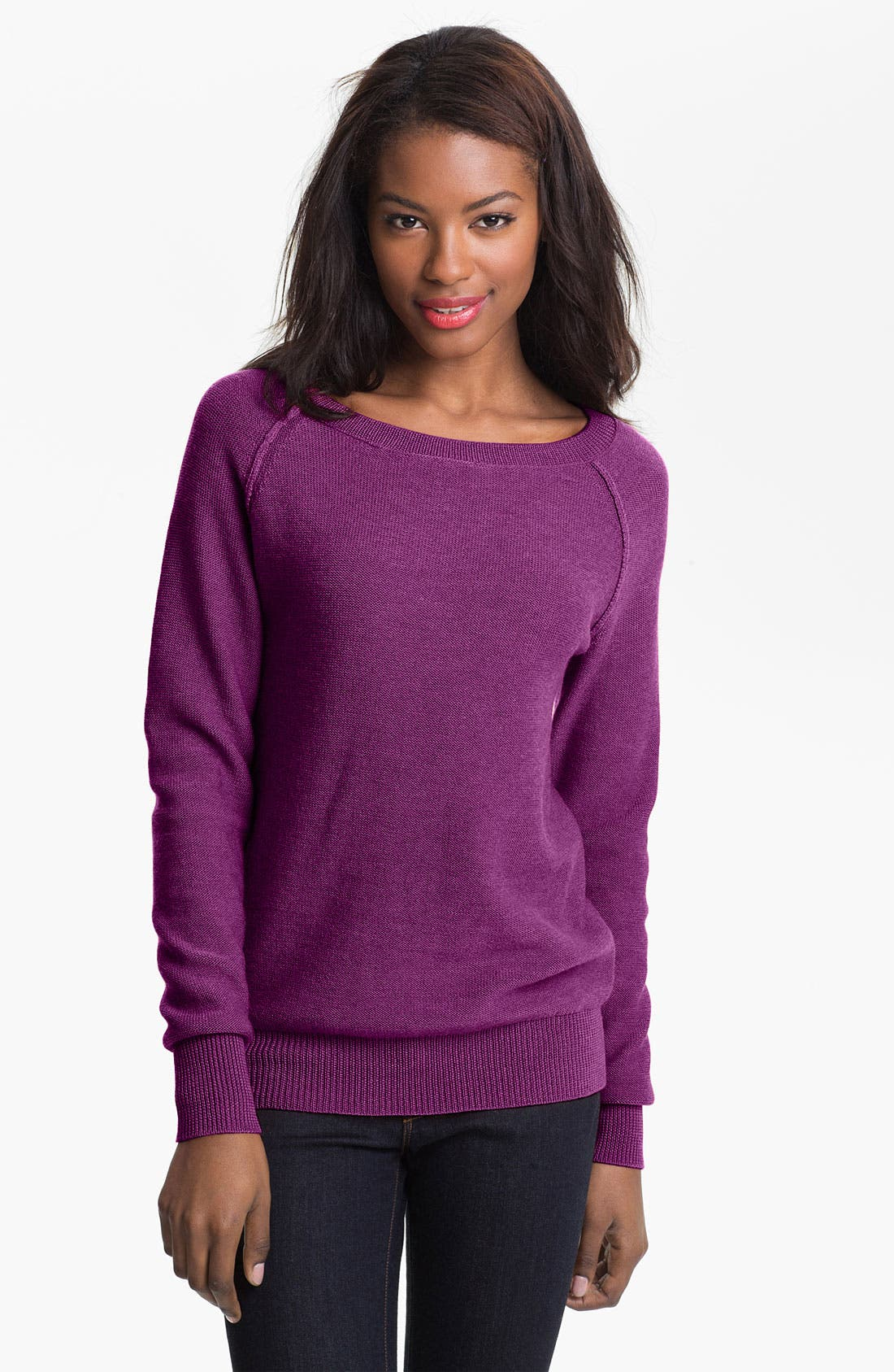 Alternate Image 1 Selected - Caslon® Bateau Neck Sweater