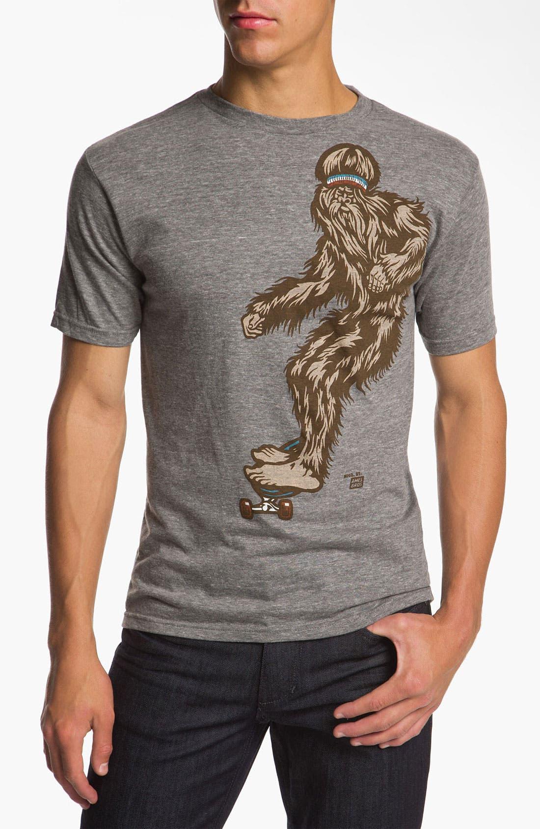 Alternate Image 1 Selected - Ames Bros 'Bjorn to Skate' Trim Fit Crewneck T-Shirt (Men)