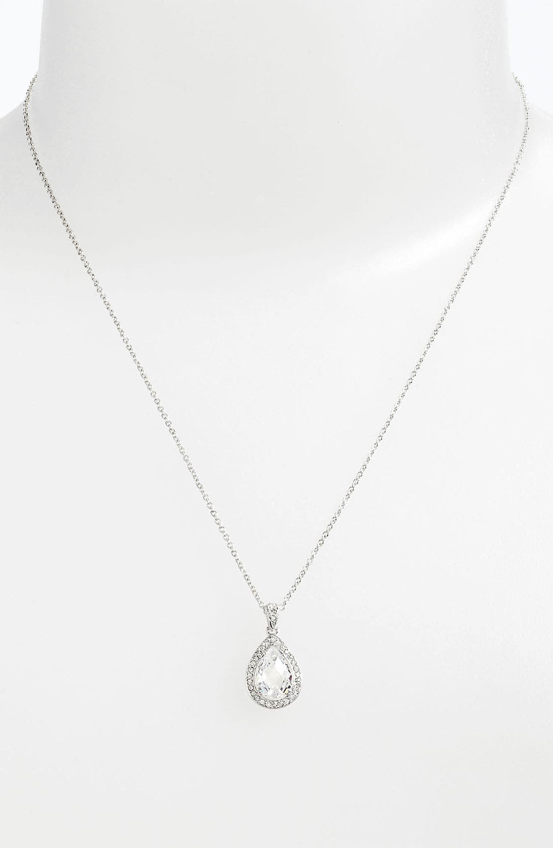 Main Image - Nadri Teardrop Pendant Necklace