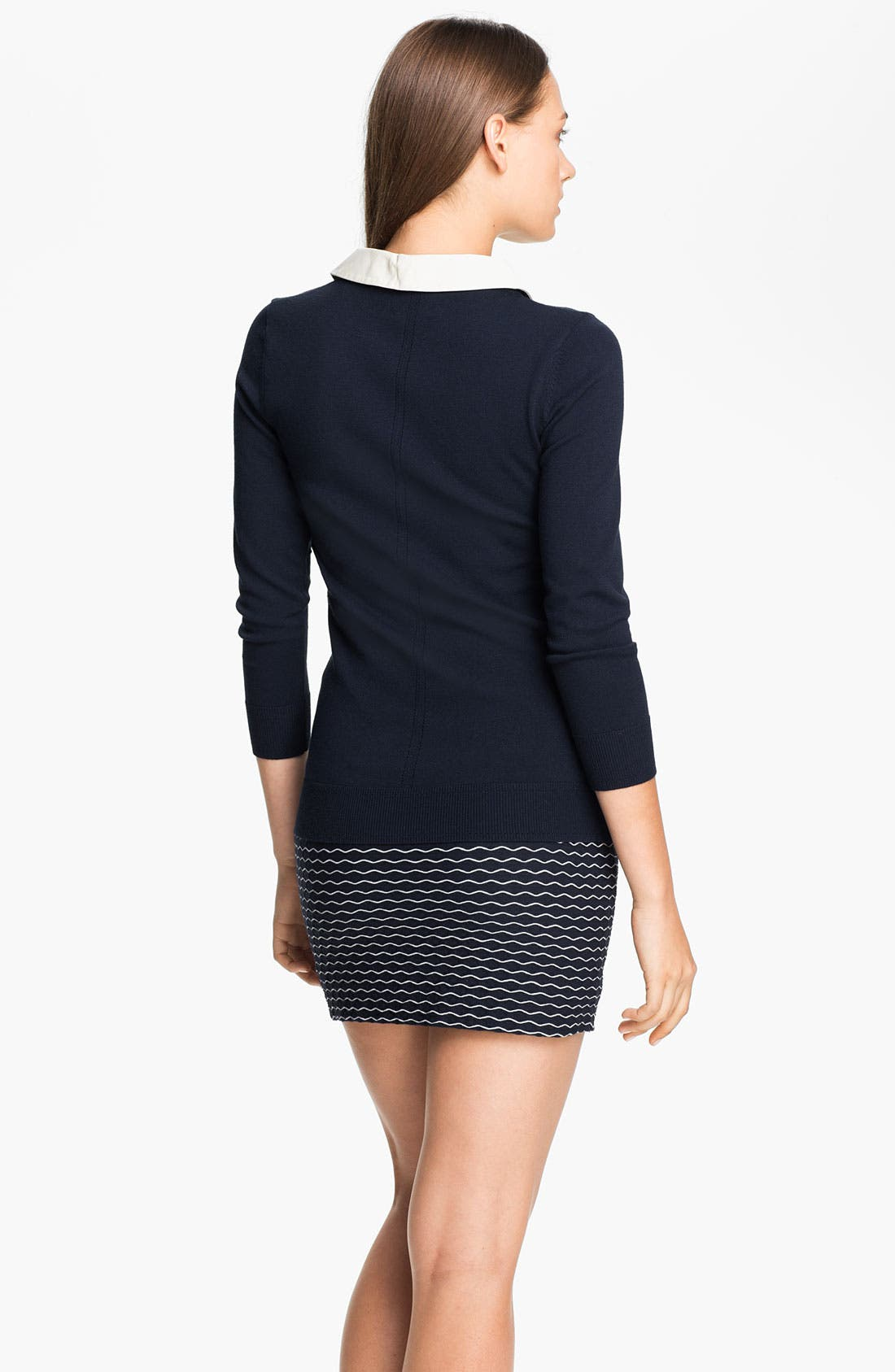Alternate Image 2  - Milly Leather Collar Sweater