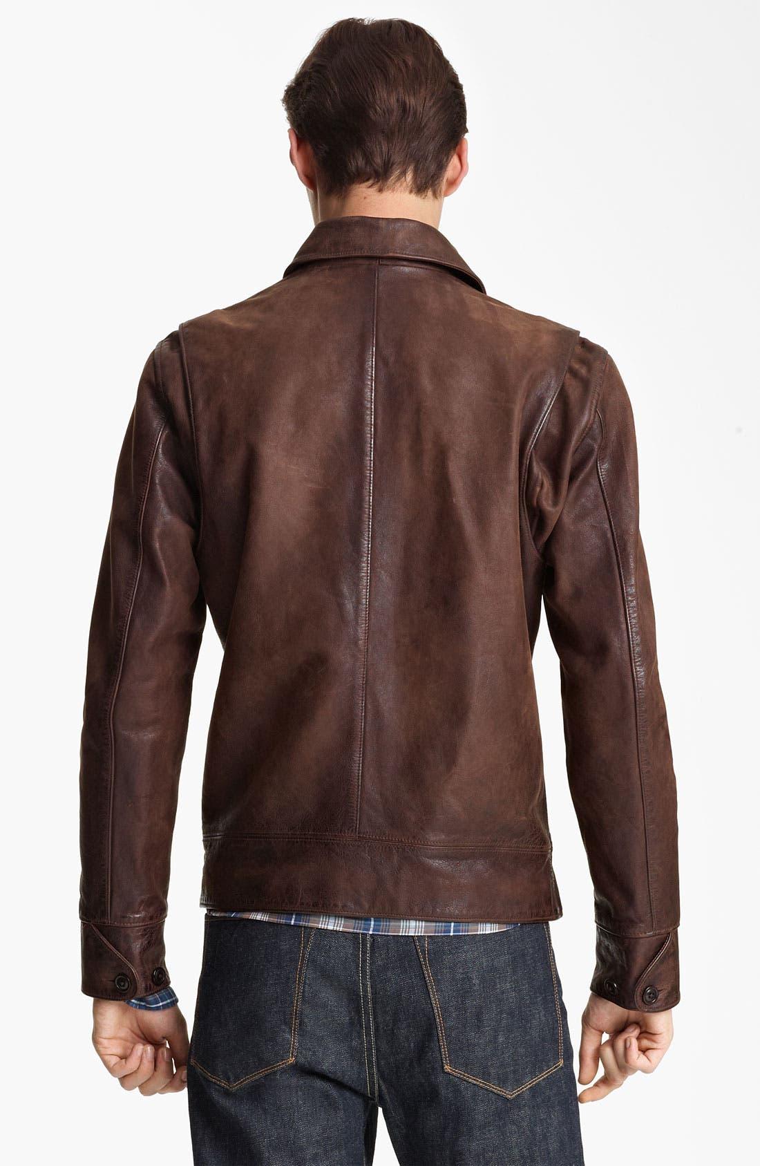 Alternate Image 2  - Todd Snyder 'Dean' Leather Jacket