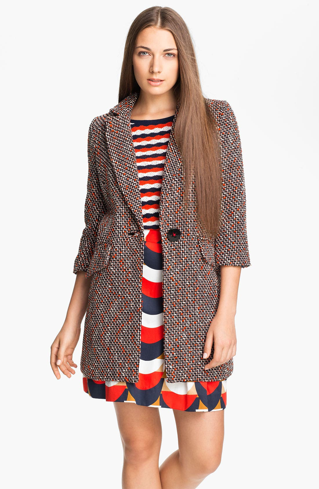 Alternate Image 1 Selected - Milly 'Alegra' Tweed Coat