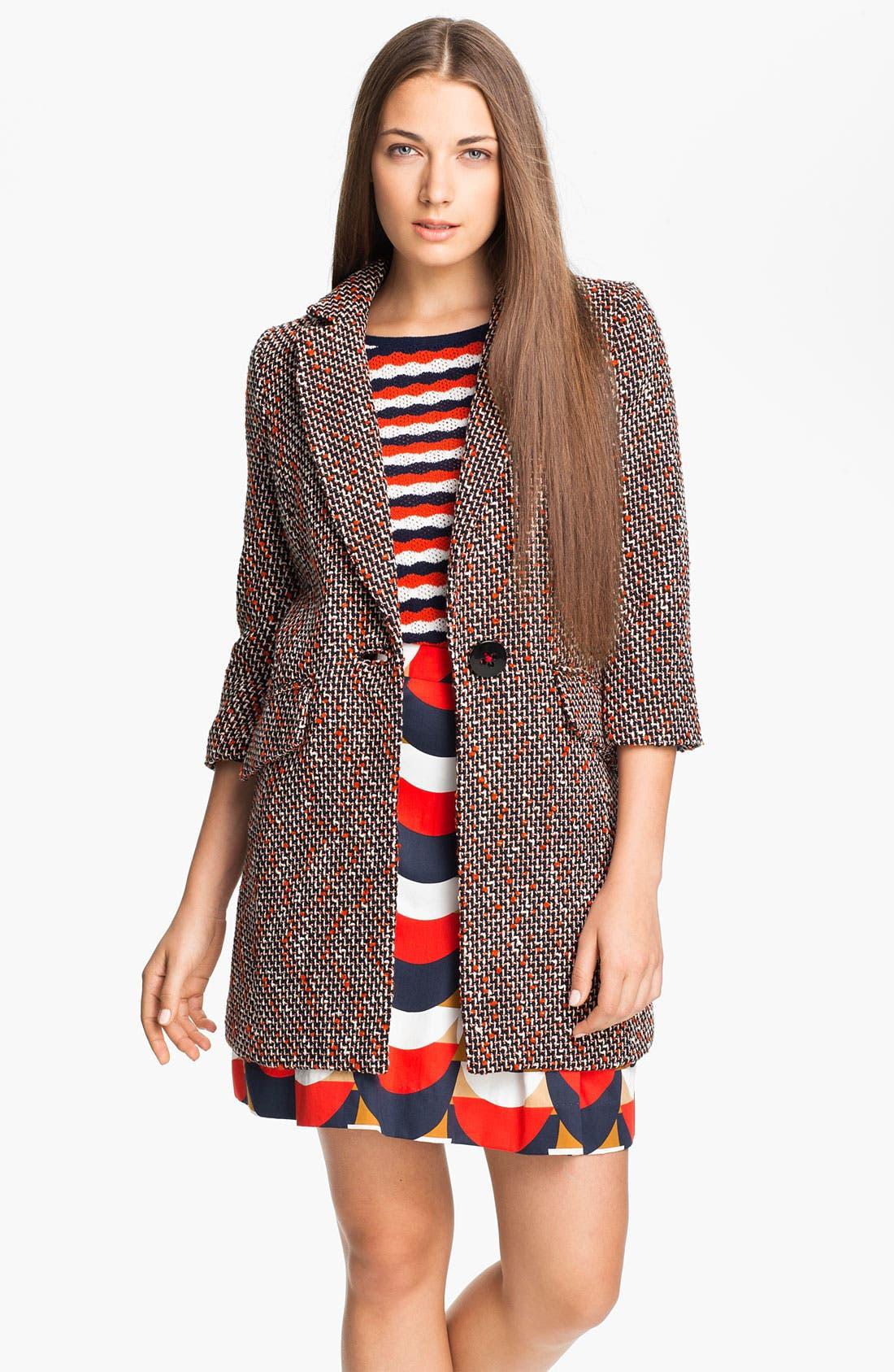 Main Image - Milly 'Alegra' Tweed Coat