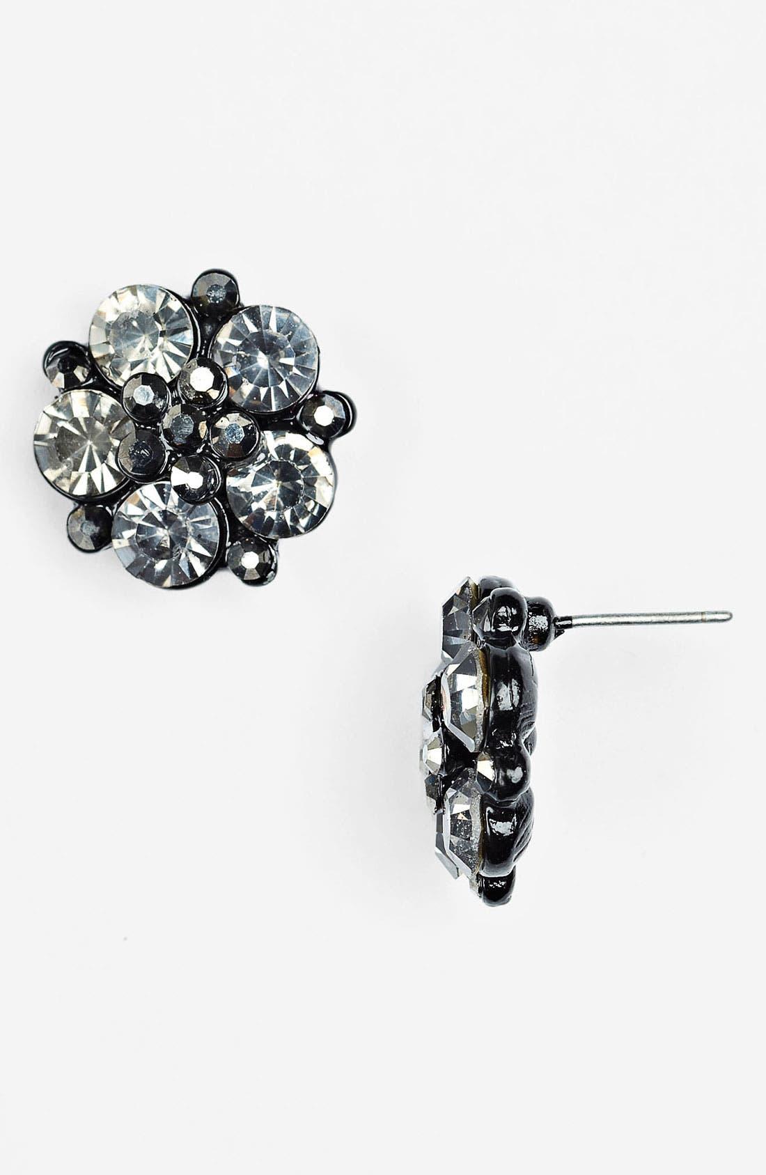 Alternate Image 1 Selected - Kool Connections Rhinestone Cluster Earrings (Juniors)