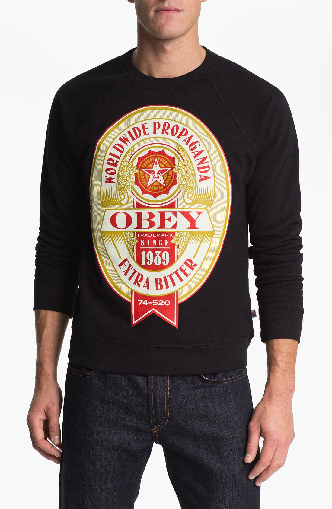 Alternate Image 1 Selected - Obey 'Extra Bitter' Crewneck Fleece Sweatshirt