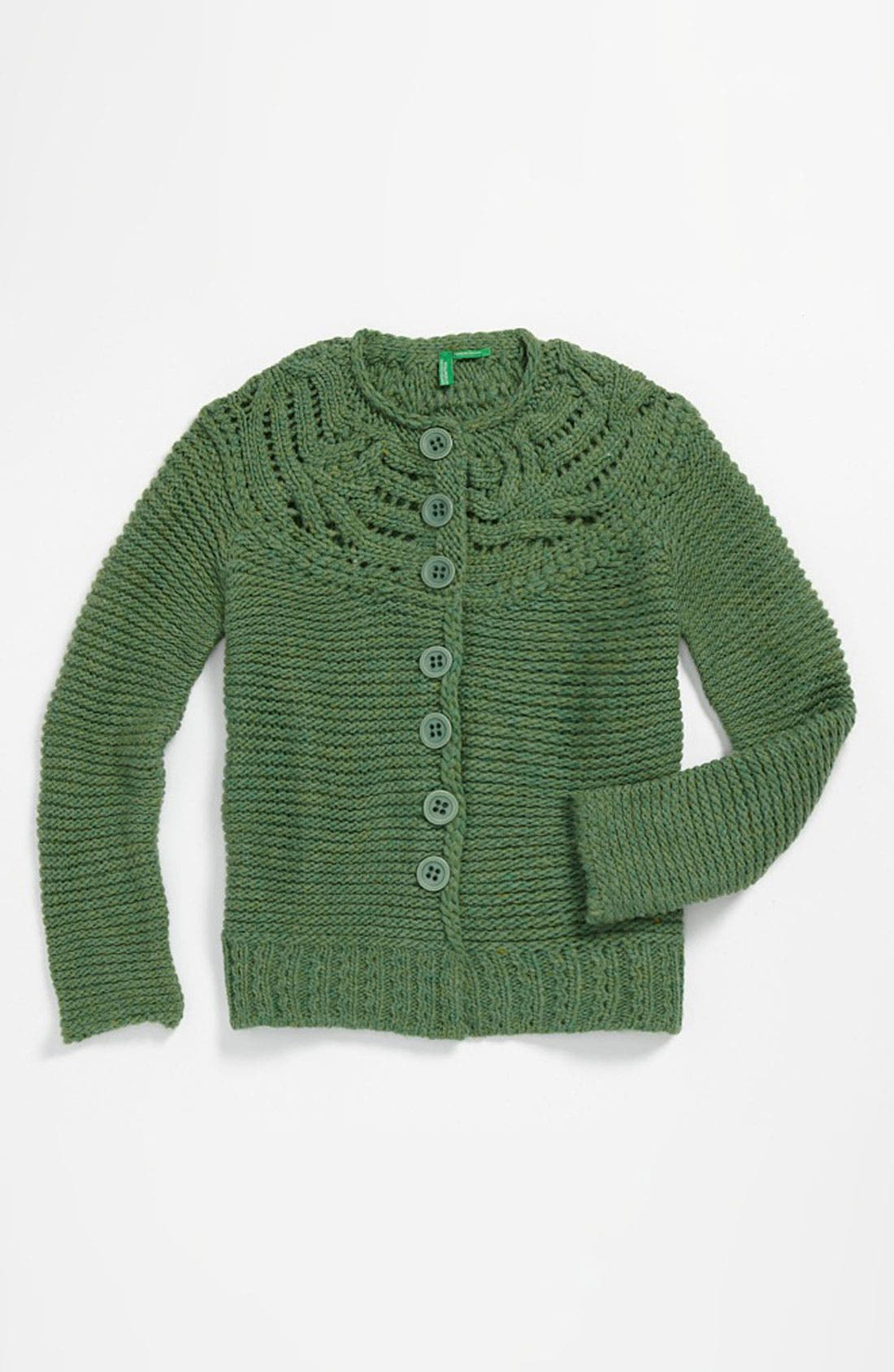 Alternate Image 1 Selected - United Colors of Benetton Kids Knit Sweater (Little Girls & Big Girls)