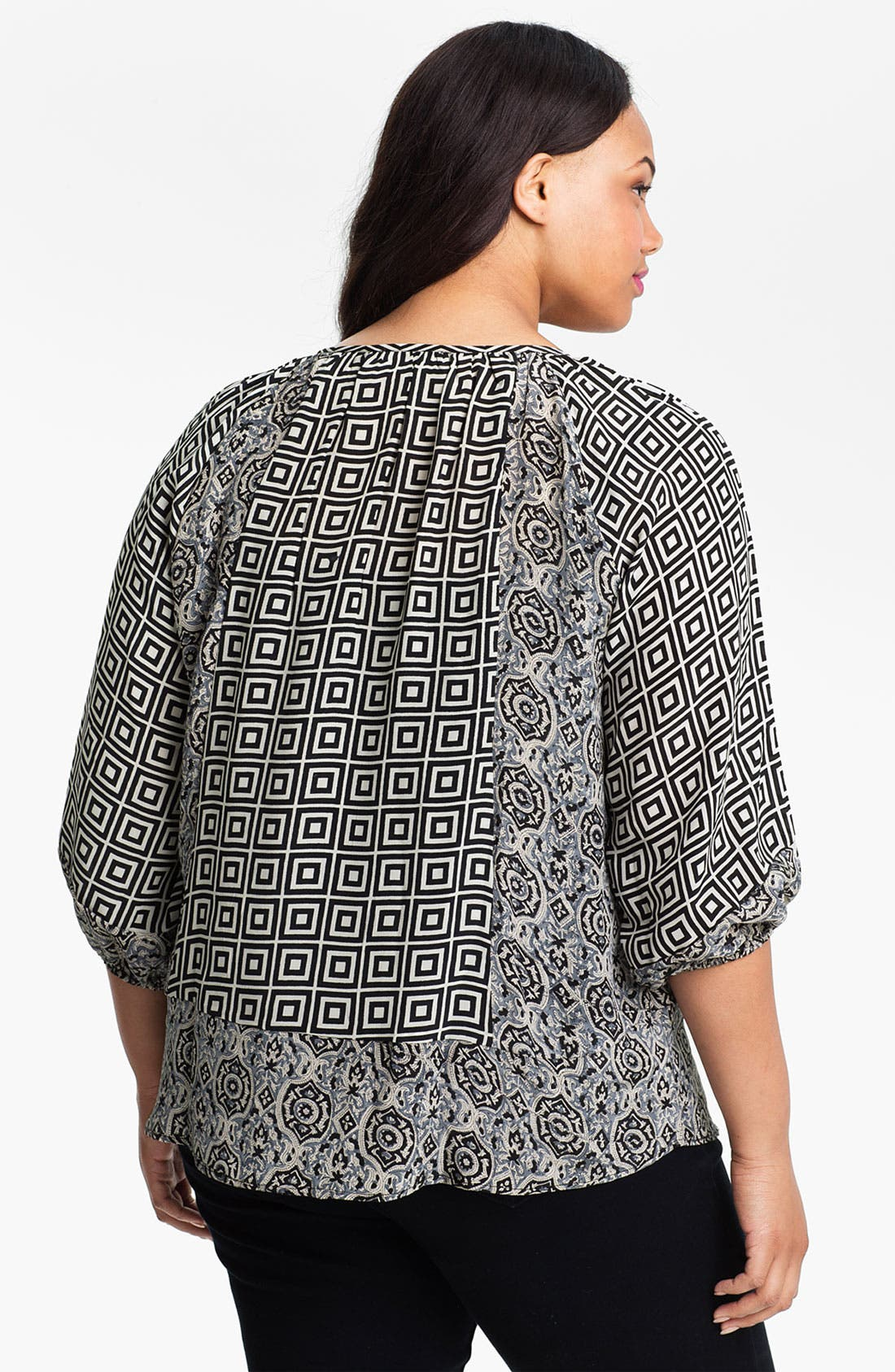 Alternate Image 2  - Tolani 'Adele' Silk Tunic (Plus Size) (Online Only)