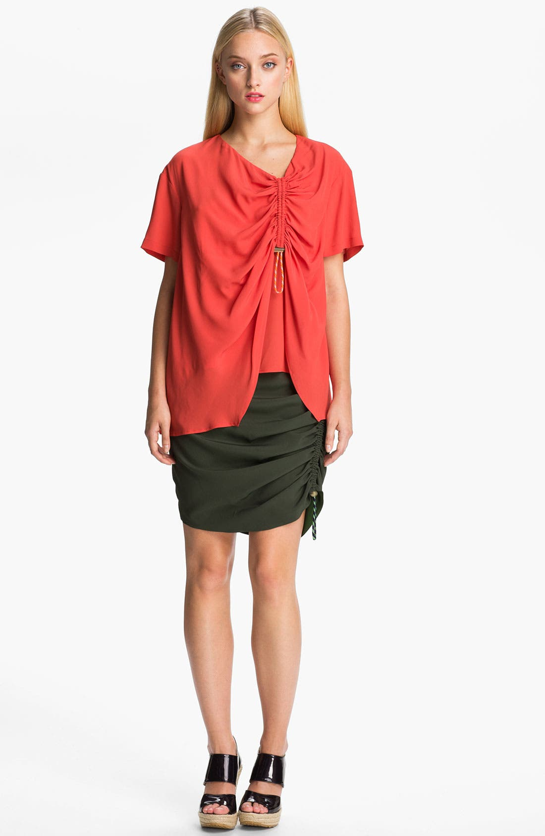 Alternate Image 1 Selected - KENZO Side Ruched Crepe Top