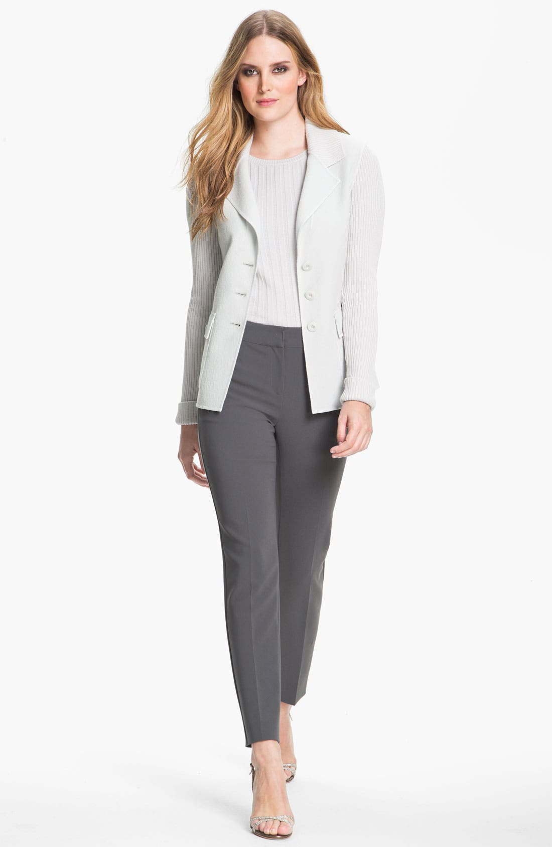 Alternate Image 1 Selected - St. John Collection Fitted Crepe Jacket