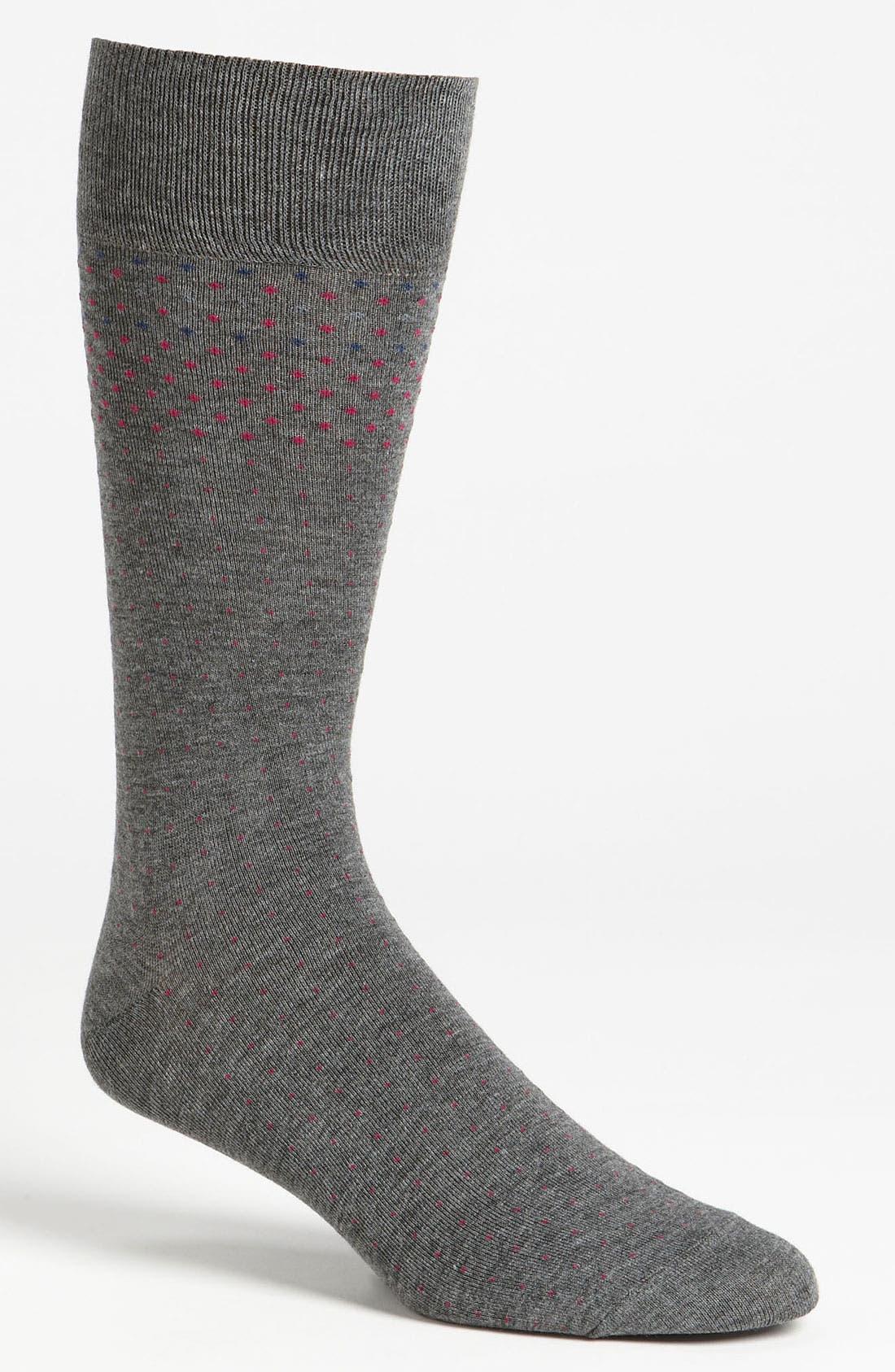 Alternate Image 1 Selected - Vince Camuto 'Graduated Pin Dot' Socks