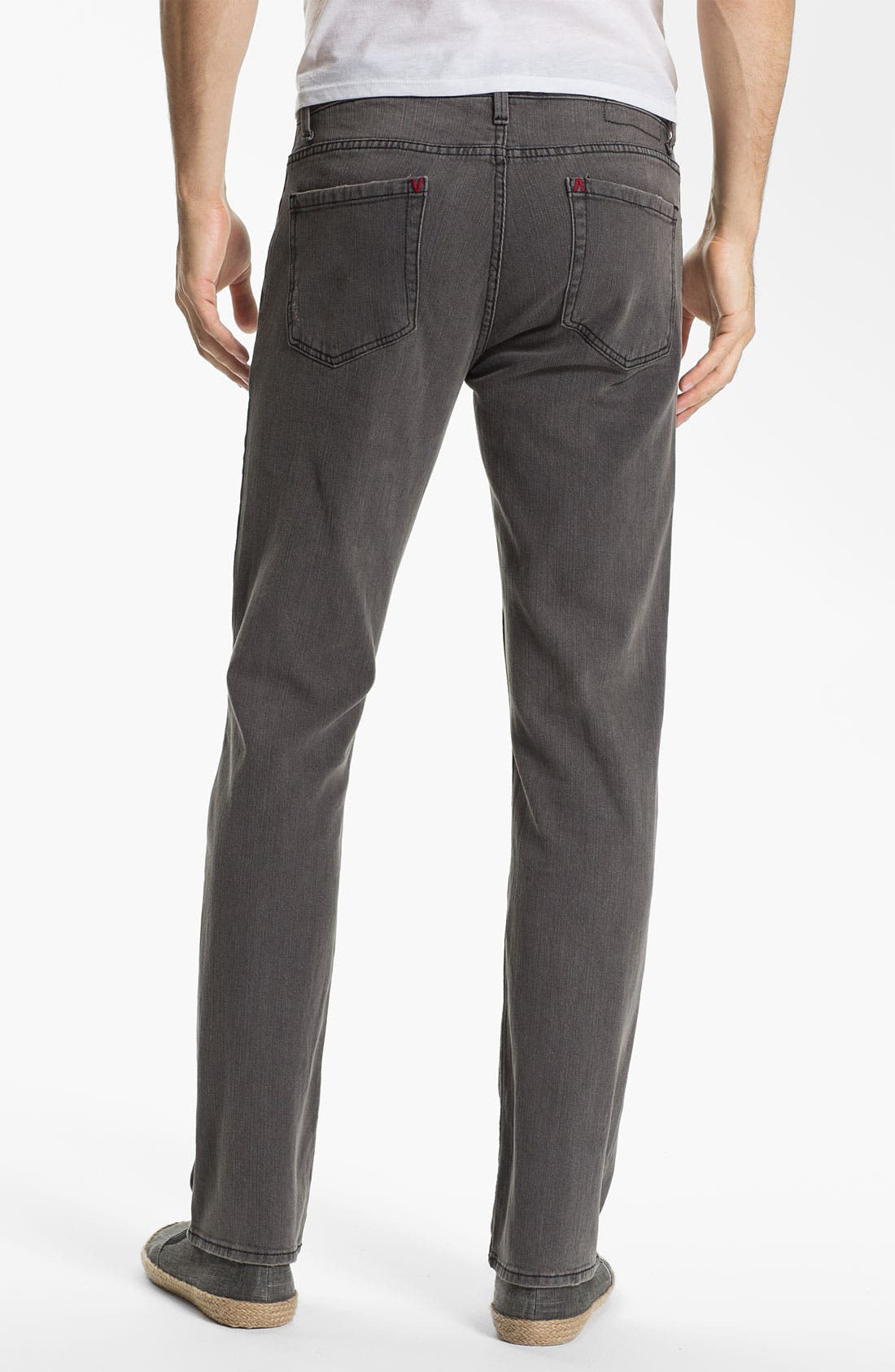 Alternate Image 1 Selected - RVCA Slim Straight Leg Jeans (Grey Wolf)