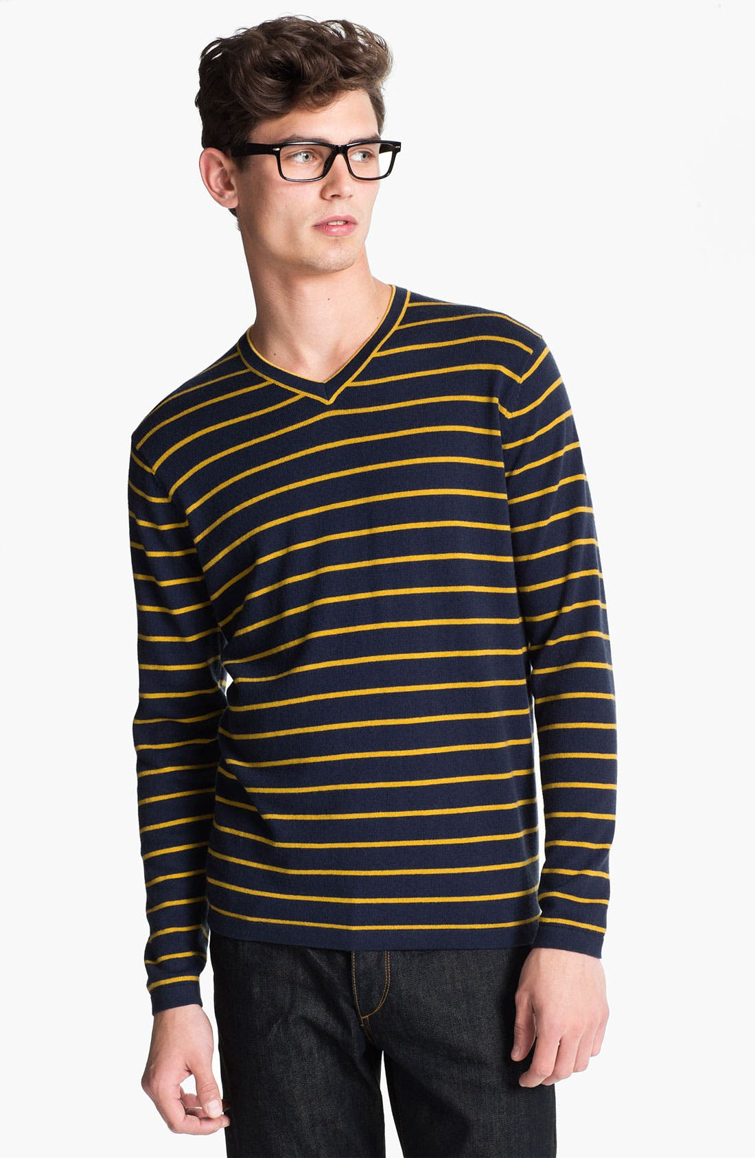 Alternate Image 1 Selected - Cardigan by Lynne Hiriak 'Serge' Merino Wool V-Neck Sweater