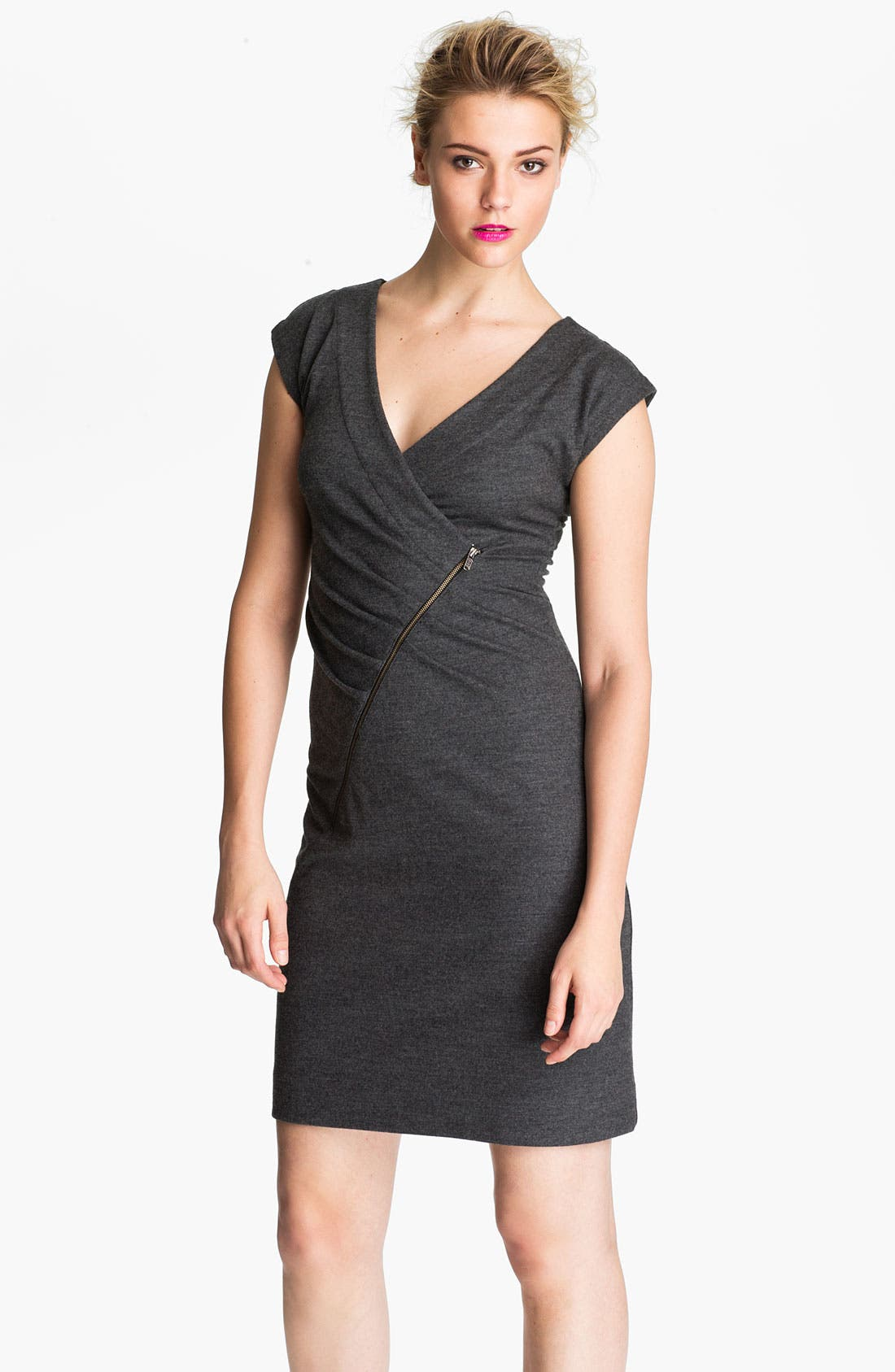Alternate Image 1 Selected - MARC BY MARC JACOBS 'Fiona' Asymmetrical Zip Wool Dress