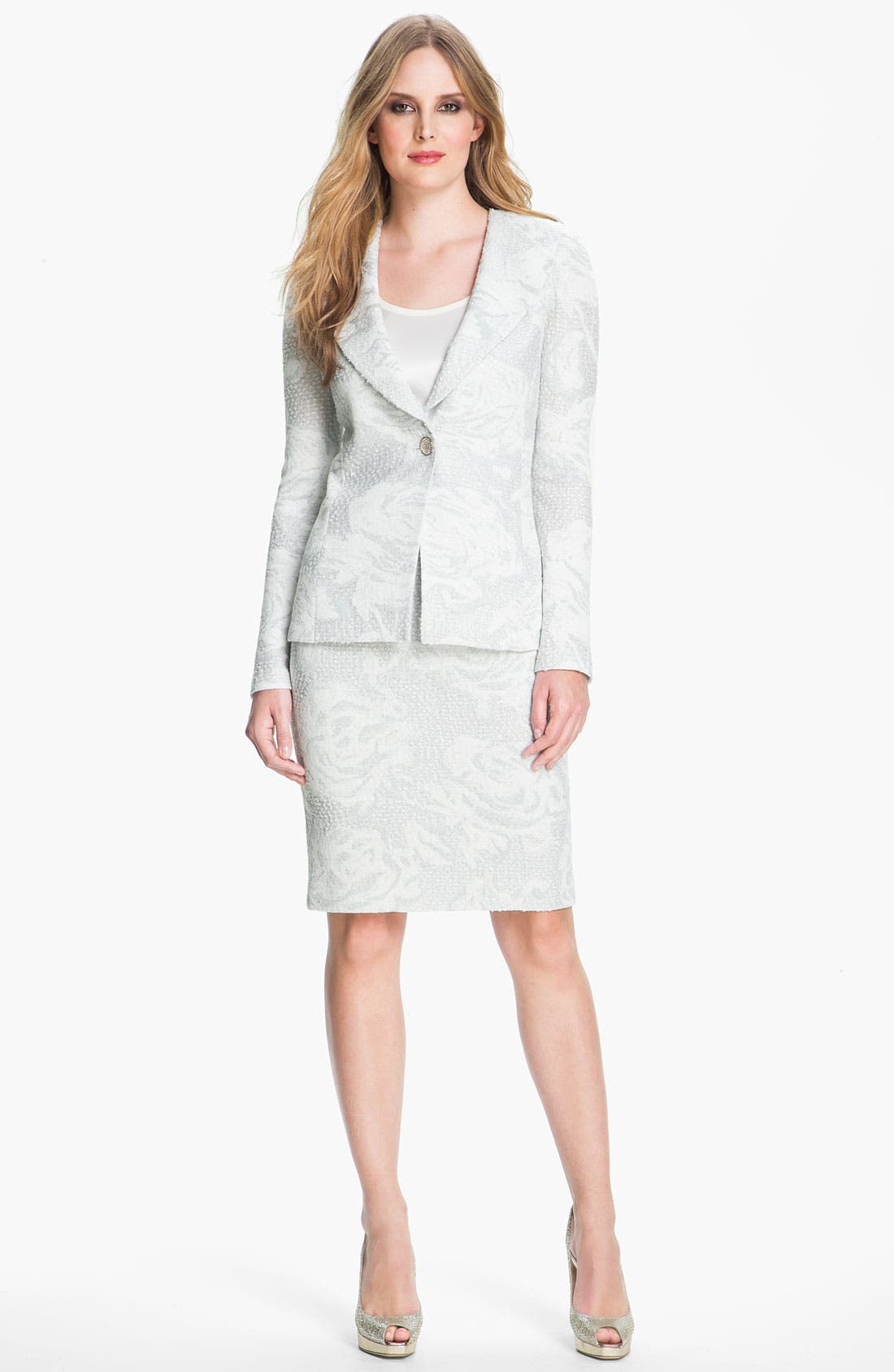 Main Image - St. John Collection Floral Jacquard Knit Blazer