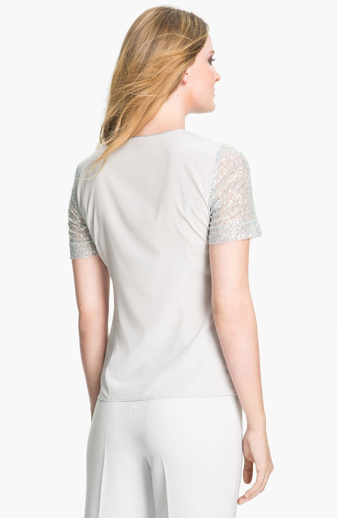 Alternate Image 2  - St. John Collection Embroidered Tulle Top