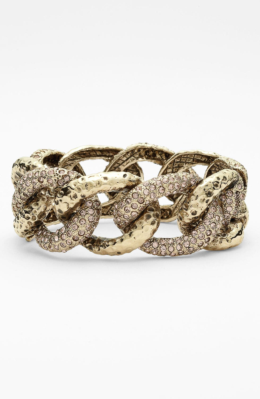 Alternate Image 1 Selected - St. John Collection Antique Flash Gold & Crystal Cuff