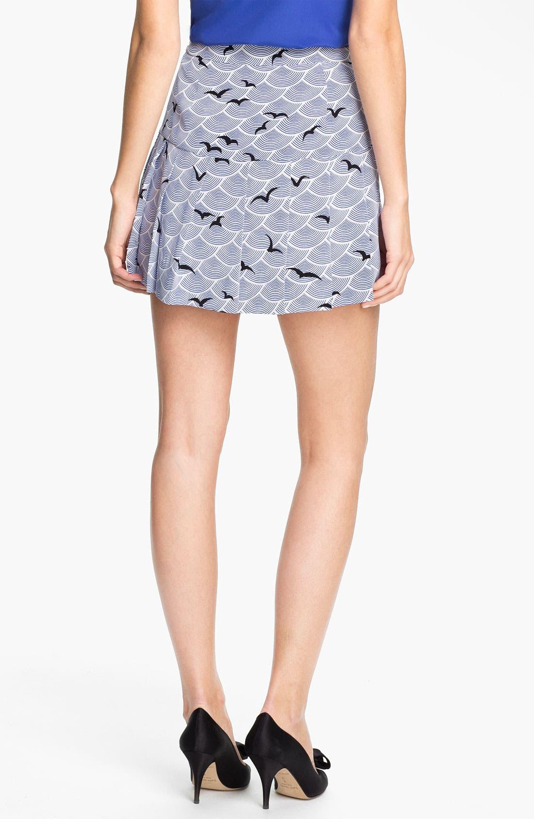 Alternate Image 2  - kate spade new york 'gavin' print skirt
