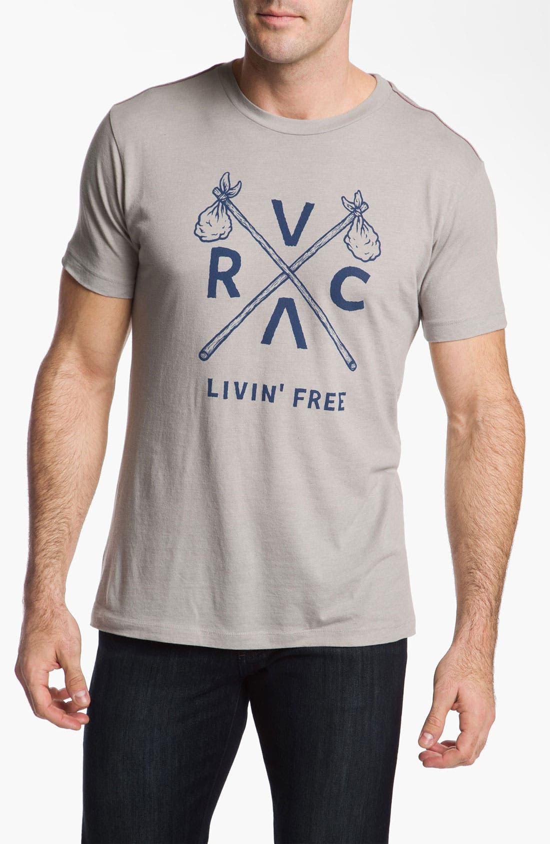 Main Image - RVCA 'Livin' Free 2' Vintage Wash T-Shirt