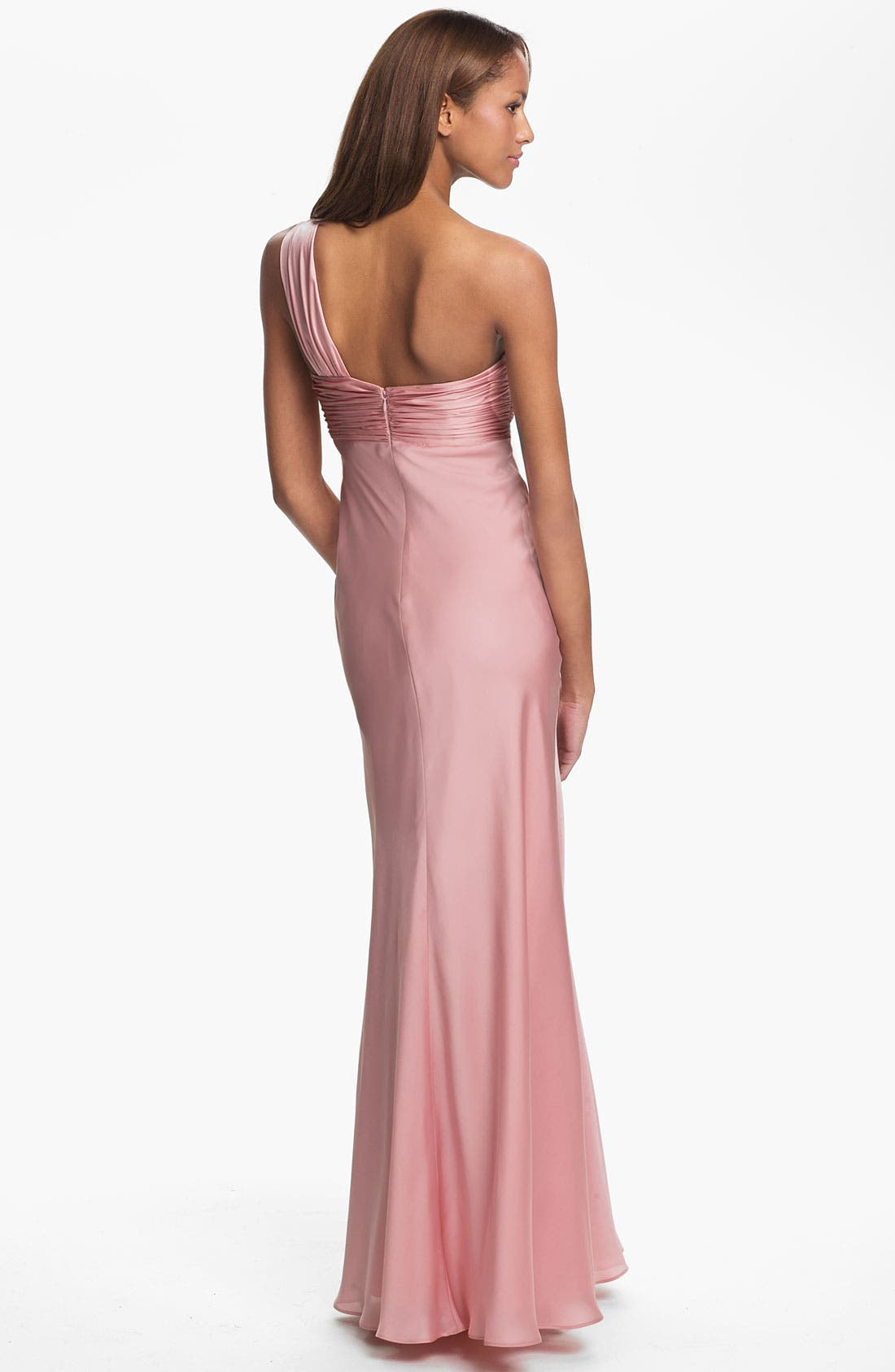 Alternate Image 2  - ML Monique Lhuillier Bridesmaids One Shoulder Gown (Nordstrom Exclusive)
