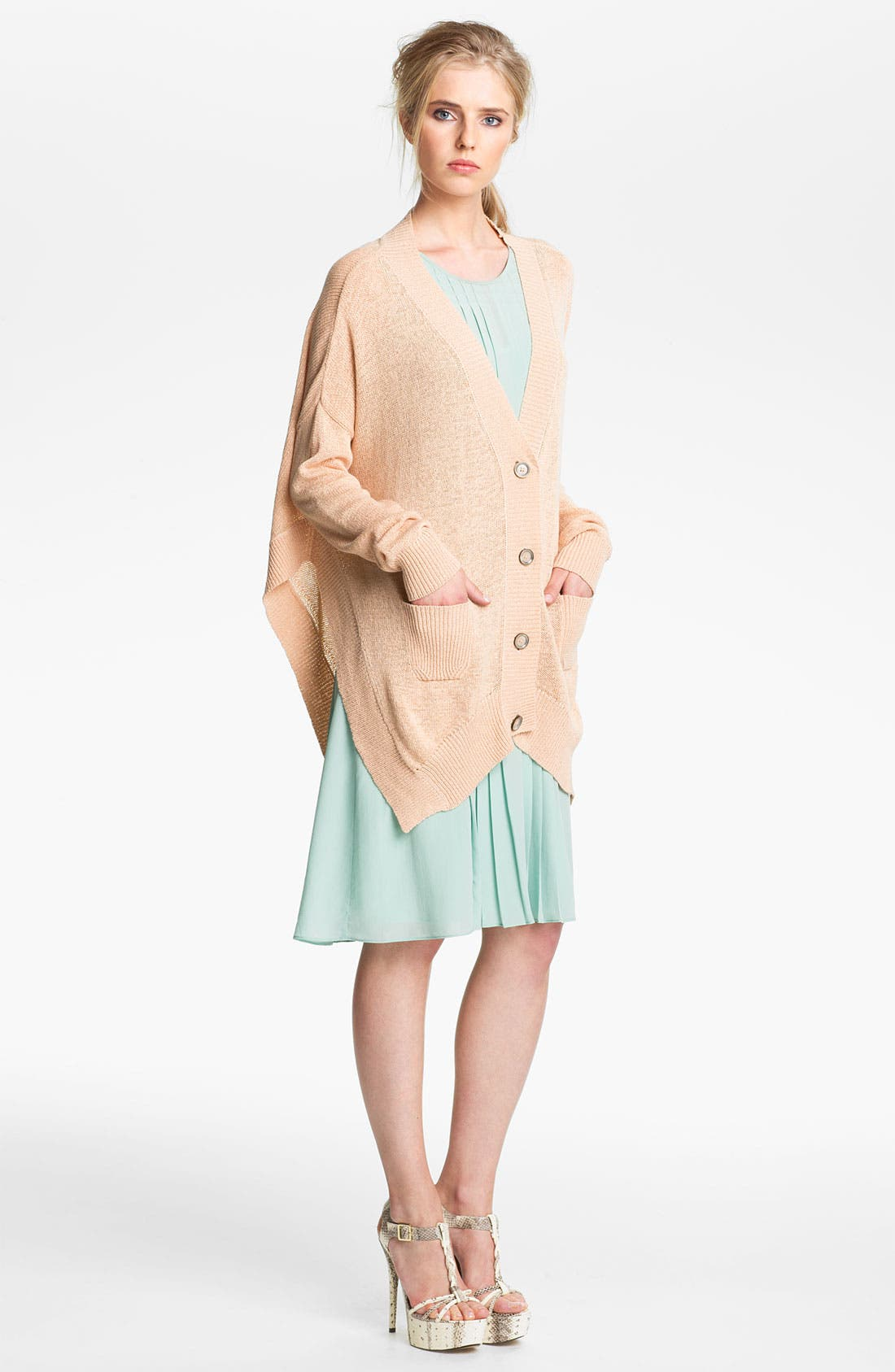 Alternate Image 1 Selected - Rachel Zoe 'Helena' Oversized V-Neck Cardigan