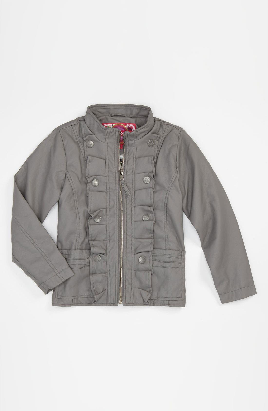 Alternate Image 1 Selected - Dollhouse Faux Leather Jacket (Big Girls)