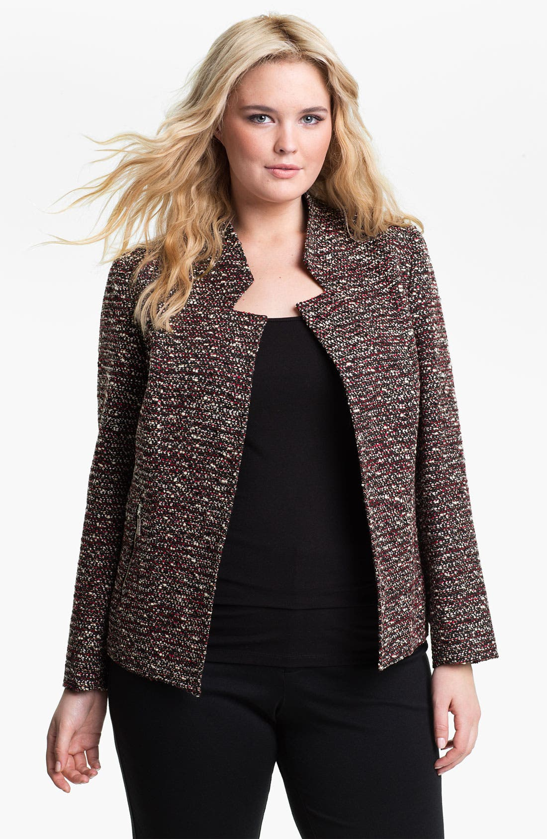 Alternate Image 1 Selected - Louben Tweed Jacket (Plus)